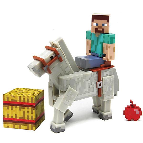 Фигурка 2 в 1 Стив, 8 см, MinecraftКоллекционные и игровые фигурки<br>Все поклонники Minecraft придут в восторг от Стива! Это дружелюбный моб, в игре он бесцельно блуждал по окрестностям, что нередко приводило к его смерти — он тонул в озерах или падал с летающих островов. Игрушка выполнена из высококачественного пластика безопасного для детей. Собери всю коллекцию фигурок Майнкрафт!<br><br>Дополнительная информация:<br><br>- Материал: пластик.<br>- Высота фигурки: 8 см. <br>- Комплектация: фигурка, лошадь, кубик, яблоко.<br>- Руки и ноги фигурки подвижные.<br>- У лошади подвижные ноги.<br><br>Фигурка 2 в 1 Стив, 8 см, Minecraft (Майнкрафт), можно купить в нашем магазине.<br><br>Ширина мм: 191<br>Глубина мм: 162<br>Высота мм: 58<br>Вес г: 152<br>Возраст от месяцев: 72<br>Возраст до месяцев: 120<br>Пол: Мужской<br>Возраст: Детский<br>SKU: 4122548