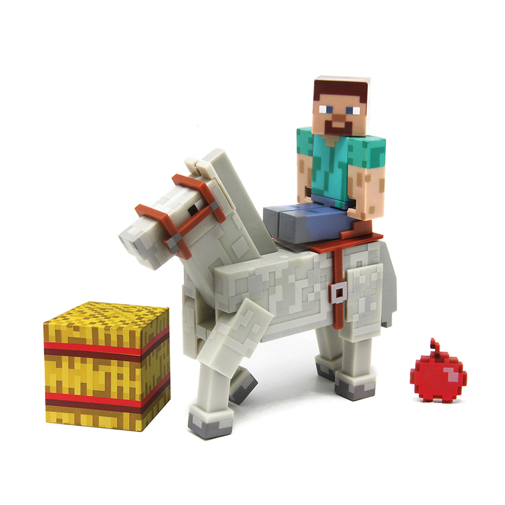 Фигурка 2 в 1 Стив, 8 см, MinecraftВсе поклонники Minecraft придут в восторг от Стива! Это дружелюбный моб, в игре он бесцельно блуждал по окрестностям, что нередко приводило к его смерти — он тонул в озерах или падал с летающих островов. Игрушка выполнена из высококачественного пластика безопасного для детей. Собери всю коллекцию фигурок Майнкрафт!<br><br>Дополнительная информация:<br><br>- Материал: пластик.<br>- Высота фигурки: 8 см. <br>- Комплектация: фигурка, лошадь, кубик, яблоко.<br>- Руки и ноги фигурки подвижные.<br>- У лошади подвижные ноги.<br><br>Фигурка 2 в 1 Стив, 8 см, Minecraft (Майнкрафт), можно купить в нашем магазине.<br><br>Ширина мм: 191<br>Глубина мм: 162<br>Высота мм: 58<br>Вес г: 152<br>Возраст от месяцев: 72<br>Возраст до месяцев: 120<br>Пол: Мужской<br>Возраст: Детский<br>SKU: 4122548