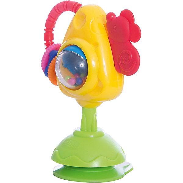Игрушка для стульчика Мышка с сыром и крекерами, ChiccoИгрушки для новорожденных<br>Игрушка для стульчика Мышка с сыром и крекерами, Chicco (Чико) – это увлекательная механическая игрушка на стульчик для кормления, которая крепится сбоку с помощью присоски. Ваш малыш может двигать мышку вверх-вниз, перемещать 3 разноцветных колечка или вращать яркие шарики в центральной области, создавая эффект погремушки.<br><br>Дополнительная информация:<br>-Размеры: 21х16х10 см<br>-Вес: 240 г<br>-Материалы: пластик<br><br>Забавная игрушка для стульчика Мышка с сыром и крекерами позволит развеселить Вашего ребенка, пока он ест. <br><br>Игрушка для стульчика Мышка с сыром и крекерами, Chicco (Чико) можно купить в нашем магазине.<br><br>Ширина мм: 157<br>Глубина мм: 90<br>Высота мм: 208<br>Вес г: 237<br>Возраст от месяцев: 6<br>Возраст до месяцев: 36<br>Пол: Унисекс<br>Возраст: Детский<br>SKU: 4123471