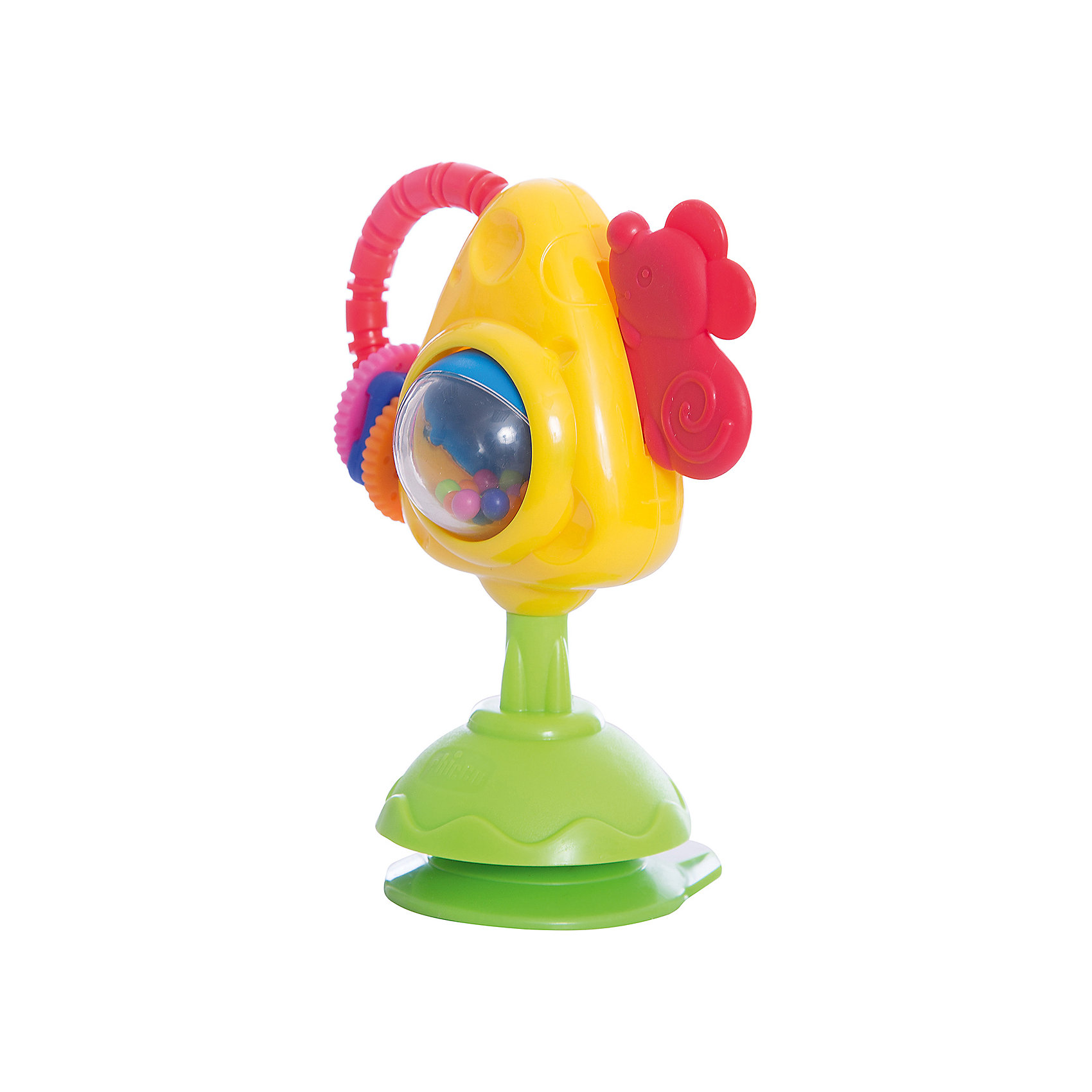 CHICCO Игрушка для стульчика Мышка с сыром и крекерами, Chicco игрушка музыкальная chicco утёнок 6995 3