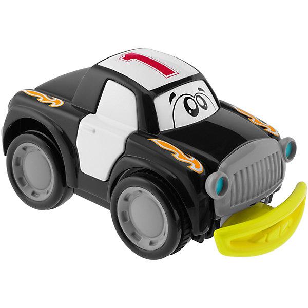 Машинка Turbo Touch Crash, черная, ChiccoМашинки<br>Машинка Turbo Touch Crash (Турбо Тач Крэш), голубая, Chicco (Чико) – это гоночный автомобиль, набирающий скорость от нажатия рукой на ее заднюю часть. Во время движения автомобиль вибрирует и издает звук «рычащего» двигателя. Врезаясь в препятствия, у машины открываются двери, а бампер отпадет под сопровождением звуковых эффектов. Машинка легко собирается обратно, и можно начинать новую игру.<br><br>Дополнительная информация:<br>-Цвет: черный<br>-Вес: 480 г<br>-Размер:  16x9,5x7,2 см<br>-Материалы: пластик<br>-Батарейки 3х АА 1,5 В (входят в комплект)<br><br>Забавная машинка станет отличным подарком и надолго увлечет Вашего малыша!<br><br>Машинка Turbo Touch Crash (Турбо Тач Крэш), голубая, Chicco (Чико) можно купить в нашем магазине.<br><br>Ширина мм: 208<br>Глубина мм: 155<br>Высота мм: 148<br>Вес г: 471<br>Возраст от месяцев: 24<br>Возраст до месяцев: 60<br>Пол: Мужской<br>Возраст: Детский<br>SKU: 4123473