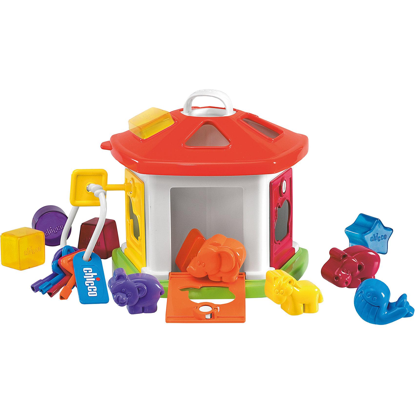 CHICCO Сортер Домик с животными, Chicco игрушка для животных каскад удочка с микки маусом 47 см