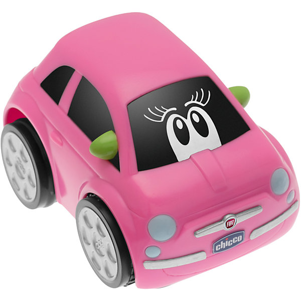 Машинка TURBO TOUCH FIAT 500 PINK, Chicco