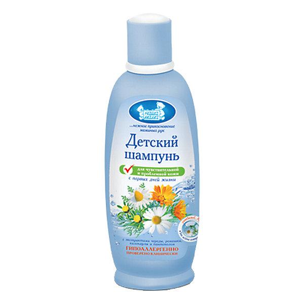 Шампунь для чувствительной кожи 300 мл, Наша МамаДетские шампуни<br>Специальный мягкий шампунь на основе растительных ПАВ нежно очищает волосы, не оказывая обезжиривающего действия на чувствительную кожу головы малыша. Благодаря натуральным экстрактам восстанавливает естественную пышность и мягкость волос. Рекомендуется как средство для предрасположенной к воспалительным процессам кожи. Не раздражает глазки малыша.<br><br>Ширина мм: 45<br>Глубина мм: 75<br>Высота мм: 175<br>Вес г: 320<br>Возраст от месяцев: 0<br>Возраст до месяцев: 36<br>Пол: Унисекс<br>Возраст: Детский<br>SKU: 4124409