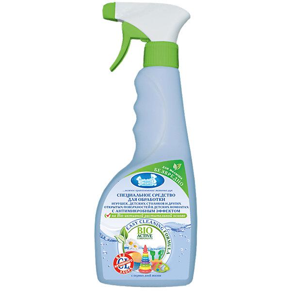 Средство для обработки с антимикробным эффектом, Наша МамаБытовая химия<br>BIO- разлагаемое средство без запаха на растительной основе, очищает игрушки, десткие столики и другие предметы в комнате малыша от микробов, не оставляет на поверхности разводов. Не содержит агрессивных компоненотов и предназначено для деликатной обработке дестких игрушек, предметов гигиены и интерьера, а так же для ежедневной антимикробной уборки в детских комнатах<br><br>Ширина мм: 65<br>Глубина мм: 85<br>Высота мм: 255<br>Вес г: 600<br>Возраст от месяцев: 0<br>Возраст до месяцев: 36<br>Пол: Унисекс<br>Возраст: Детский<br>SKU: 4124428