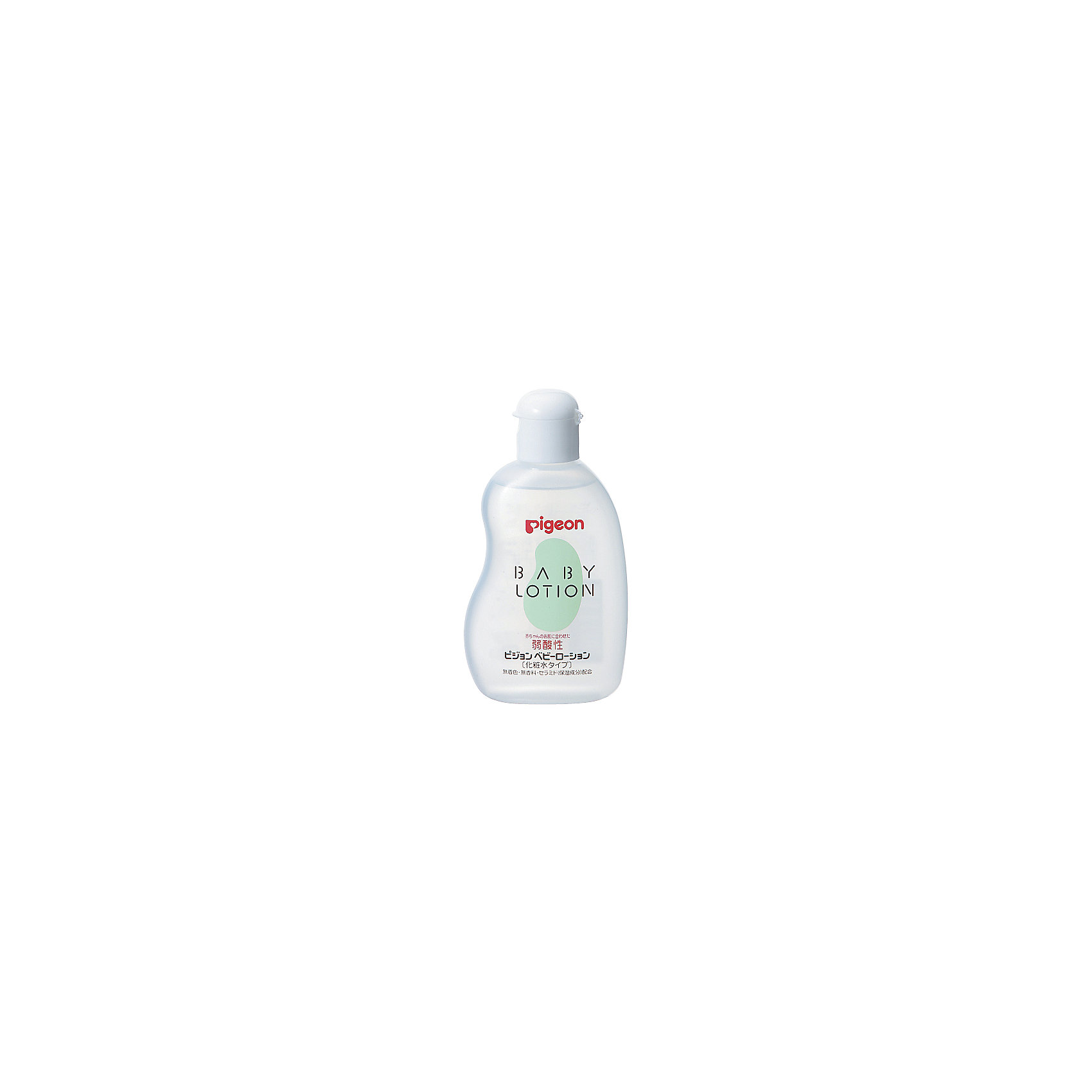 Лосьон увлажняющий детский 120 мл, PigeonКосметика для младнецев<br>Подходит для ежедневного ухода за малышом с рождения.  Содержит увлажняющие компоненты: Керамиды (составляющий компонент кожи человека), удерживающие влагу в коже, защищающие ее от неблагоприятного воздействия окружающей среды; Гиалуроновую кислоту, натуральный компонент, создающий на коже воздухопроницаемую пленку, удерживающую влагу, Аминокислоты (основной элемент белка человека), хорошо усваиваются кожей, способствуют ее увлажнению.<br><br>Ширина мм: 33<br>Глубина мм: 67<br>Высота мм: 127<br>Вес г: 130<br>Возраст от месяцев: 0<br>Возраст до месяцев: 36<br>Пол: Унисекс<br>Возраст: Детский<br>SKU: 4124478