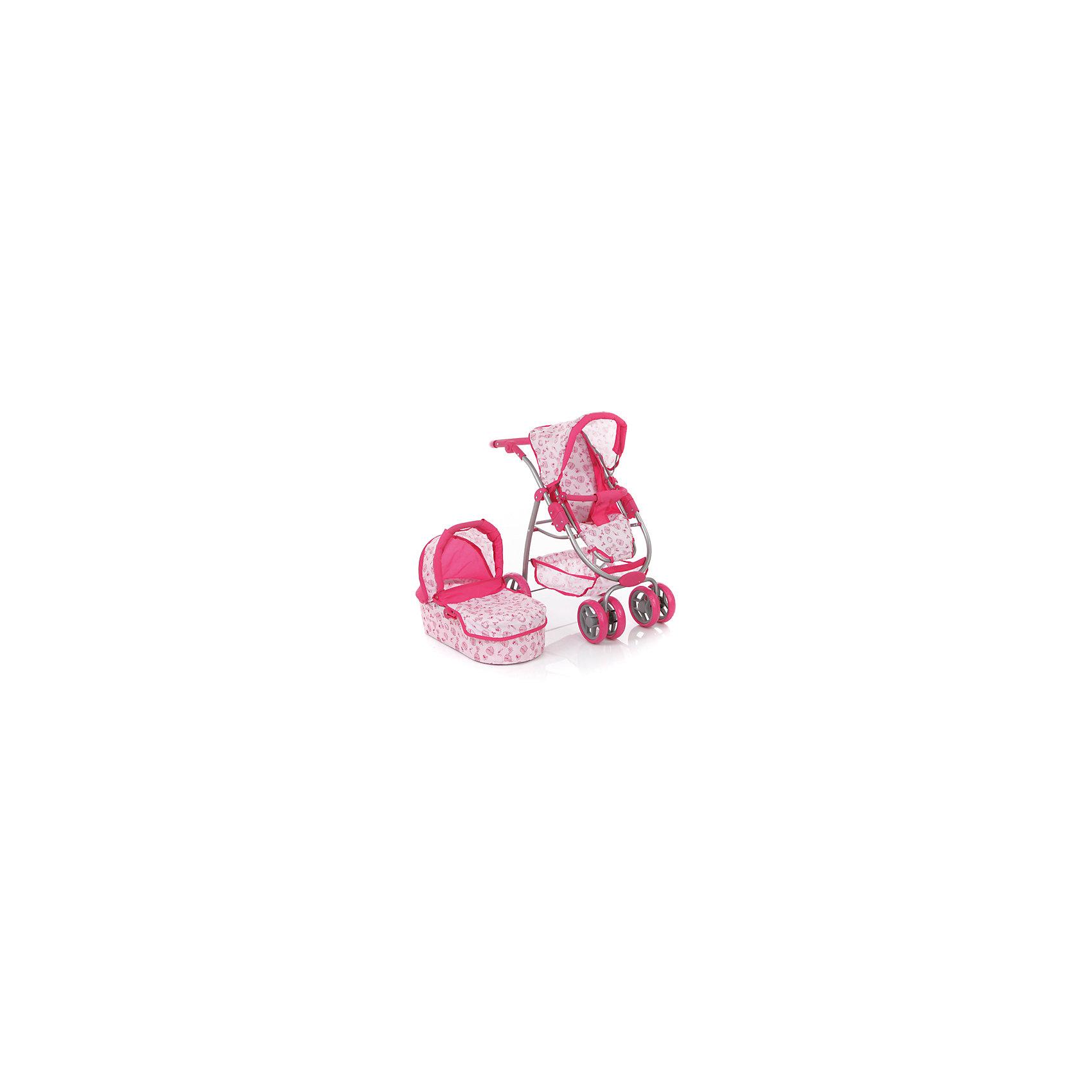 Коляска для кукол, 2в1, MeloboКоляска для кукол, 2в1, Melobo<br>Коляска для кукол, 2в1, Melobo – прекрасный подарок для вашей маленькой принцессы. Эта коляска так понравится вашим куклам, что они не захотят уходить с прогулки! Коляска с люлькой легко складывается в прогулочную коляску, и люльку и сиденье можно повернуть в положение «к маме» и «лицом в перед». Коляска выглядит совсем как настоящая, а высококачественные материалы обладают прочностью и безопасны для детей. В коляске предусмотрены ремни безопасности, складной козырек, корзина для игрушек. Поворотные передние колеса делают коляску очень легкой в управлении. Обивка легко снимается, ее можно стирать. С такой коляской игры будут еще веселее!<br>Дополнительная информация:<br><br>- Материал: пластик, текстиль, металл <br>- Габариты коляски: 54 x 42 x 73 см<br><br>Коляску для кукол, 2в1, Melobo можно купить в нашем интернет-магазине.<br>Подробнее:<br>• Для детей в возрасте: от 2 до 6 лет<br>• Номер товара: 4125054<br>Страна производитель: Китай<br><br>Ширина мм: 590<br>Глубина мм: 390<br>Высота мм: 180<br>Вес г: 2700<br>Возраст от месяцев: 12<br>Возраст до месяцев: 60<br>Пол: Женский<br>Возраст: Детский<br>SKU: 4125054