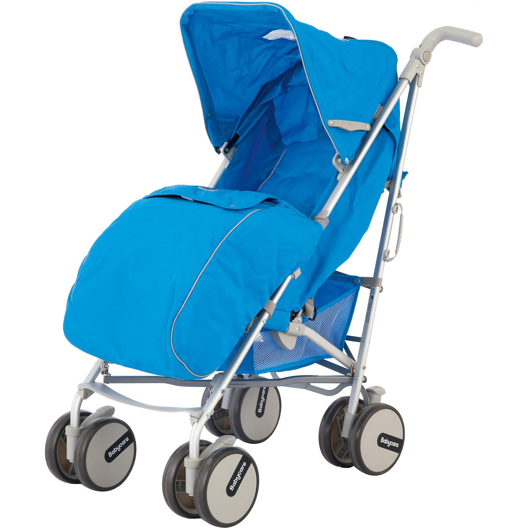 Коляска-трость Baby Care Premier, синийНедорогие коляски<br>Коляска-трость Premier (Премьер), Baby Care , синий – это прогулочная коляска-трость с расширенным функционалом. Здесь и полностью раскладывающийся капюшон, и 3 положения наклона спинки, и регулируемая подножка и еще множество приятных мелочей, которые редко встречаются у колясок данной категории. Мягкие сдвоенные колеса не только обеспечивают супер плавный ход коляски, но еще и стильно выглядят. Две поворотные в разных плоскостях ручки, большая корзина для вещей придется по вкусу всем мамам!<br><br>Характеристики:<br>-Тип: прогулочная<br>-Цвет: синий<br>-Механизм складывания: трость<br>-Регулировка спинки в 3 положениях <br>-Легкая алюминиевая рама <br>-5-точечные ремни безопасности <br>-Большой складной капюшон с 2-мя окошками<br>-Мягкие сдвоенные колеса из искусственной вспененной резины (пеноплена) <br>-Передние поворотные колеса с фиксатором<br>-Регулируемые в разных плоскостях ручки <br>-Стояночные тормоза на задних колесах <br>-Регулировка высоты ручки: есть<br><br>Комплектация: чехол на ноги, сетка для продуктов<br><br>Дополнительная информация:<br>-Вес коляски: 7 кг<br>-Габариты: 65х32х21 см<br>-Диаметр колёс: 15 см<br>-Ширина колёсной базы: 46 см<br>-Габариты в сложенном виде: 72x46 см<br>-Материалы: пеноплен, пластик, алюминий, текстиль<br><br>Компактная Коляска-трость Premier (Премьер), Baby Care , синий идеально подходит для приятных путешествий, ведь она очень компактна легко и быстро складывается одной рукой!<br><br>Коляска-трость Premier (Премьер), Baby Care , синий можно купить в нашем магазине.<br><br>Ширина мм: 720<br>Глубина мм: 460<br>Высота мм: 210<br>Вес г: 7500<br>Возраст от месяцев: 6<br>Возраст до месяцев: 36<br>Пол: Унисекс<br>Возраст: Детский<br>SKU: 4125329