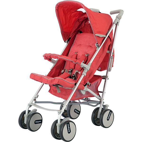Коляска-трость Baby Care Premier, розовыйКоляски-трости<br>Коляска-трость Premier (Премьер), Baby Care , розовый – это прогулочная коляска-трость с расширенным функционалом. Здесь и полностью раскладывающийся капюшон, и 3 положения наклона спинки, и регулируемая подножка и еще множество приятных мелочей, которые редко встречаются у колясок данной категории. Мягкие сдвоенные колеса не только обеспечивают супер плавный ход коляски, но еще и стильно выглядят. Две поворотные в разных плоскостях ручки, большая корзина для вещей придется по вкусу всем мамам!<br><br>Характеристики:<br>-Тип: прогулочная<br>-Цвет: розовый<br>-Механизм складывания: трость<br>-Регулировка спинки в 3 положениях <br>-Легкая алюминиевая рама <br>-5-точечные ремни безопасности <br>-Большой складной капюшон с 2-мя окошками<br>-Мягкие сдвоенные колеса из искусственной вспененной резины (пеноплена) <br>-Передние поворотные колеса с фиксатором<br>-Регулируемые в разных плоскостях ручки <br>-Стояночные тормоза на задних колесах <br>-Регулировка высоты ручки: есть<br><br>Комплектация: чехол на ноги, сетка для продуктов<br><br>Дополнительная информация:<br>-Вес коляски: 7 кг<br>-Габариты: 65х32х21 см<br>-Диаметр колёс: 15 см<br>-Ширина колёсной базы: 46 см<br>-Габариты в сложенном виде: 72x46 см<br>-Материалы: пеноплен, пластик, алюминий, текстиль<br><br>Компактная Коляска-трость Premier (Премьер), Baby Care , розовый идеально подходит для приятных путешествий, ведь она очень компактна легко и быстро складывается одной рукой!<br><br>Коляска-трость Premier (Премьер), Baby Care , розовый можно купить в нашем магазине.<br><br>Ширина мм: 720<br>Глубина мм: 460<br>Высота мм: 210<br>Вес г: 7500<br>Возраст от месяцев: 6<br>Возраст до месяцев: 36<br>Пол: Унисекс<br>Возраст: Детский<br>SKU: 4125331
