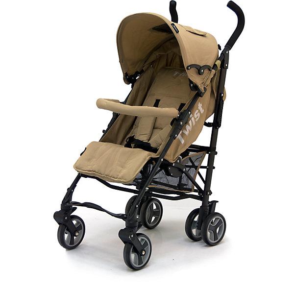 Коляска-трость Jetem Twist, бежевыйНедорогие коляски<br>Стильная и современная Коляска-трость Twist (Твист), Jetem (Жэтэм), бежевый представляет собой легкую, маневренную коляску для активных родителей и их детей. Данная модель имеет просторное посадочное место, благодаря чему ребенку будет в ней комфортно и свободно! Спинка и подножка регулируются в 3 положениях, а большой капюшон со смотровым окошком может опускаться почти до бампера, что позволит крохе поспать в любую погоду. Маневренность и плавность хода коляске придают поворотные передние колеса, которые при необходимости можно зафиксировать. <br><br>Характеристики: <br>-Сезонность: летняя<br>-Тип: прогулочная<br>-Цвет: бежевый<br>-Механизм складывания: трость <br>-Комфортное большое посадочное и спальное место<br>-Съемный бампер с мягкой обивкой<br>-Регулируемый наклон спинки (3 положения)<br>-Встроенные ремни безопасности<br>-Регулируемая подножка (3 положения)<br>-Передние колеса поворотные с возможностью фиксации<br>-Задние колеса сдвоенные<br>-Ножной тормоз на задней оси<br>-Большой опускающийся до бампера капюшон со смотровым окошком<br>-Встроенные 5-титочечные ремни безопасности с мягкими плечевыми накладками<br>-Облегченная рама из алюминиевого профиля<br><br>Комплектация: чехол на ножки, дождевик, корзина для покупок<br><br>Дополнительная информация:<br>-Диаметр колес: 12 см <br>-Материалы: плотная резина, текстиль, алюминий<br>-Вес: 9 кг <br>-Размеры: 50х40х90 см <br>-Размер спального места: 29х20х40 см<br>-Ширина шасси: 50 см<br><br>Коляска-трость Twist (Твист), Jetem (Жэтэм), бежевый – это современная, стильная модель, которая сочетает в себе качество, комфорт и безопасность!<br><br>Коляска-трость Twist (Твист), Jetem (Жэтэм), бежевый можно купить в нашем магазине.<br>Ширина мм: 980; Глубина мм: 250; Высота мм: 230; Вес г: 10000; Возраст от месяцев: 6; Возраст до месяцев: 36; Пол: Унисекс; Возраст: Детский; SKU: 4125358;