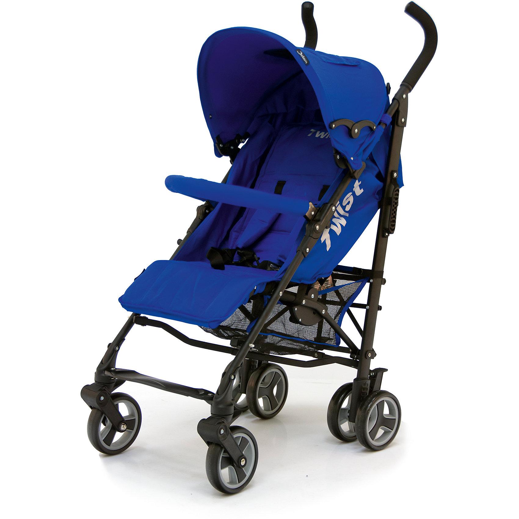 Коляска-трость Jetem Twist, синийКоляски-трости<br>Стильная и современная Коляска-трость Twist (Твист), Jetem (Жэтэм), синий представляет собой легкую, маневренную коляску для активных родителей и их детей. Данная модель имеет просторное посадочное место, благодаря чему ребенку будет в ней комфортно и свободно! Спинка и подножка регулируются в 3 положениях, а большой капюшон со смотровым окошком может опускаться почти до бампера, что позволит крохе поспать в любую погоду. Маневренность и плавность хода коляске придают поворотные передние колеса, которые при необходимости можно зафиксировать. <br><br>Характеристики: <br>-Сезонность: летняя<br>-Тип: прогулочная<br>-Цвет: синий<br>-Механизм складывания: трость <br>-Комфортное большое посадочное и спальное место<br>-Съемный бампер с мягкой обивкой<br>-Регулируемый наклон спинки (3 положения)<br>-Встроенные ремни безопасности<br>-Регулируемая подножка (3 положения)<br>-Передние колеса поворотные с возможностью фиксации<br>-Задние колеса сдвоенные<br>-Ножной тормоз на задней оси<br>-Большой опускающийся до бампера капюшон со смотровым окошком<br>-Встроенные 5-титочечные ремни безопасности с мягкими плечевыми накладками<br>-Облегченная рама из алюминиевого профиля<br><br>Комплектация: чехол на ножки, дождевик, корзина для покупок<br><br>Дополнительная информация:<br>-Диаметр колес: 12 см <br>-Материалы: плотная резина, текстиль, алюминий<br>-Вес: 9 кг <br>-Размеры: 50х40х90 см <br>-Размер спального места: 29х20х40 см<br>-Ширина шасси: 50 см<br><br>Коляска-трость Twist (Твист), Jetem (Жэтэм), синий – это современная, стильная модель, которая сочетает в себе качество, комфорт и безопасность!<br><br>Коляска-трость Twist (Твист), Jetem (Жэтэм), синий можно купить в нашем магазине.<br><br>Ширина мм: 980<br>Глубина мм: 250<br>Высота мм: 230<br>Вес г: 10000<br>Возраст от месяцев: 6<br>Возраст до месяцев: 36<br>Пол: Унисекс<br>Возраст: Детский<br>SKU: 4125359