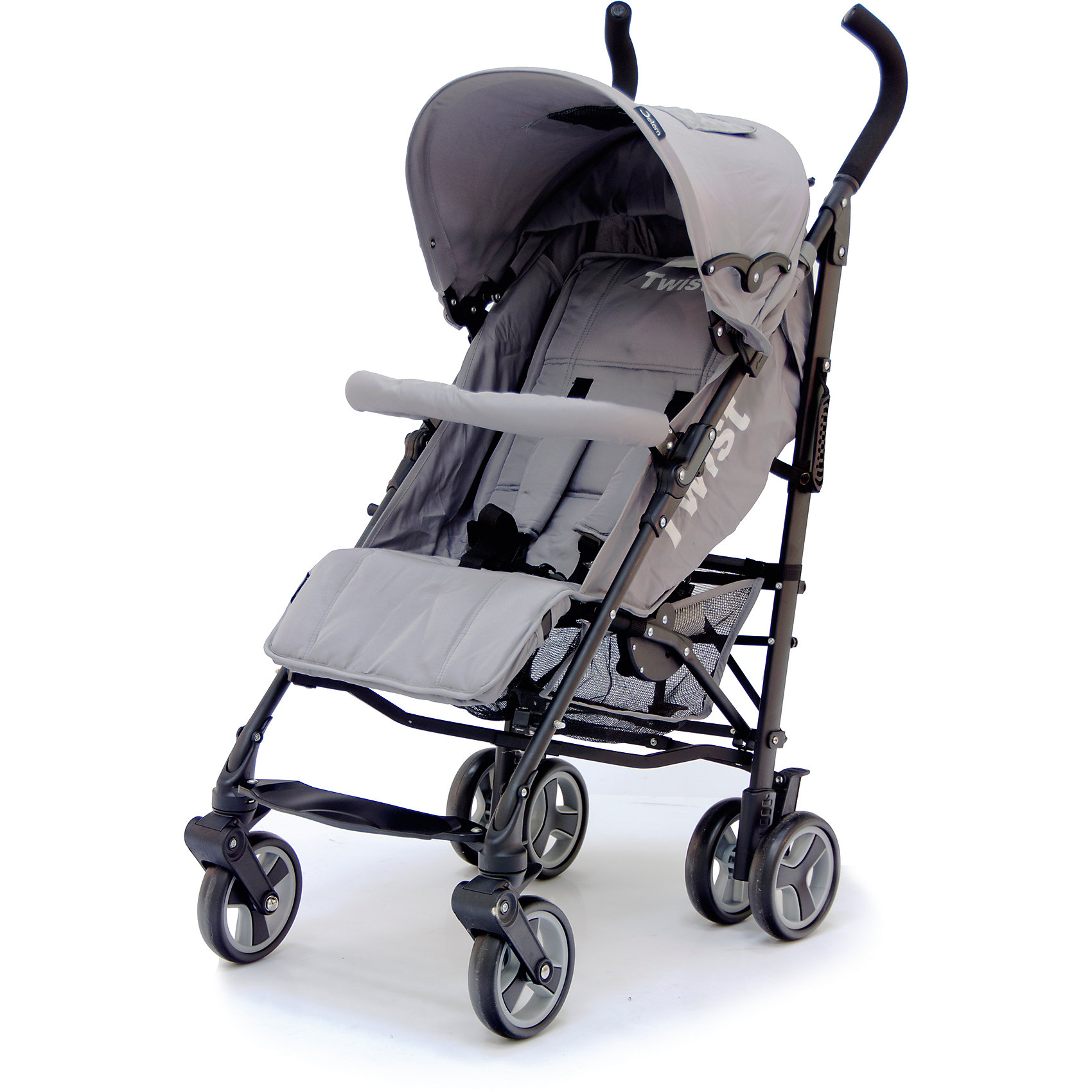 Коляска-трость Jetem Twist, серыйНедорогие коляски<br>Стильная и современная Коляска-трость Twist (Твист), Jetem (Жэтэм), серый представляет собой легкую, маневренную коляску для активных родителей и их детей. Данная модель имеет просторное посадочное место, благодаря чему ребенку будет в ней комфортно и свободно! Спинка и подножка регулируются в 3 положениях, а большой капюшон со смотровым окошком может опускаться почти до бампера, что позволит крохе поспать в любую погоду. Маневренность и плавность хода коляске придают поворотные передние колеса, которые при необходимости можно зафиксировать. <br><br>Характеристики: <br>-Сезонность: летняя<br>-Тип: прогулочная<br>-Цвет: серый<br>-Механизм складывания: трость <br>-Комфортное большое посадочное и спальное место<br>-Съемный бампер с мягкой обивкой<br>-Регулируемый наклон спинки (3 положения)<br>-Встроенные ремни безопасности<br>-Регулируемая подножка (3 положения)<br>-Передние колеса поворотные с возможностью фиксации<br>-Задние колеса сдвоенные<br>-Ножной тормоз на задней оси<br>-Большой опускающийся до бампера капюшон со смотровым окошком<br>-Встроенные 5-титочечные ремни безопасности с мягкими плечевыми накладками<br>-Облегченная рама из алюминиевого профиля<br><br>Комплектация: чехол на ножки, дождевик, корзина для покупок<br><br>Дополнительная информация:<br>-Диаметр колес: 12 см <br>-Материалы: плотная резина, текстиль, алюминий<br>-Вес: 9 кг <br>-Размеры: 50х40х90 см <br>-Размер спального места: 29х20х40 см<br>-Ширина шасси: 50 см<br><br>Коляска-трость Twist (Твист), Jetem (Жэтэм), серый – это современная, стильная модель, которая сочетает в себе качество, комфорт и безопасность!<br><br>Коляска-трость Twist (Твист), Jetem (Жэтэм), серый можно купить в нашем магазине.<br><br>Ширина мм: 980<br>Глубина мм: 250<br>Высота мм: 230<br>Вес г: 10000<br>Возраст от месяцев: 6<br>Возраст до месяцев: 36<br>Пол: Унисекс<br>Возраст: Детский<br>SKU: 4125360