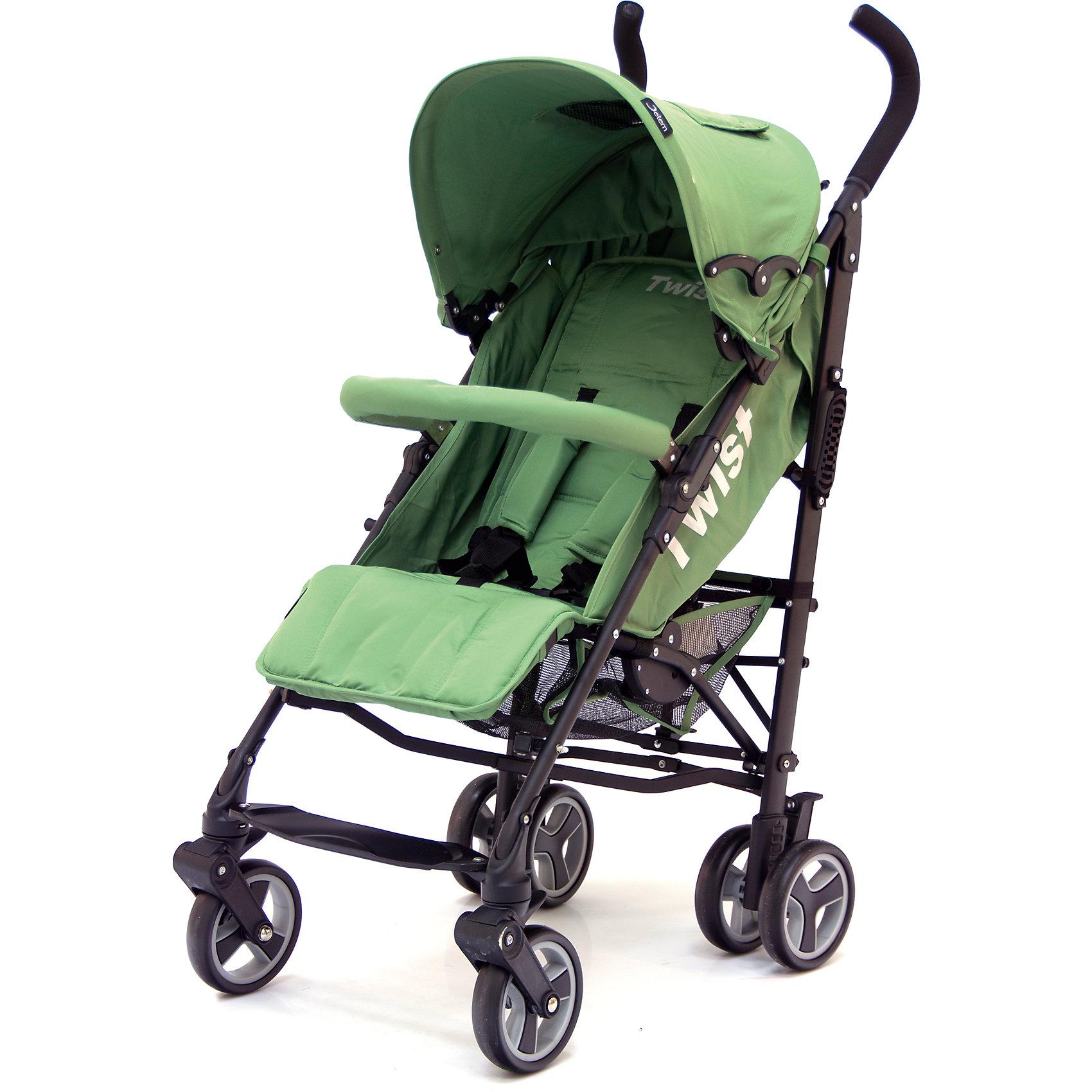Коляска-трость Jetem Twist, PistacioНедорогие коляски<br>Стильная и современная Коляска-трость Twist (Твист), Jetem (Жэтэм), Pistacio (фисташковый) представляет собой легкую, маневренную коляску для активных родителей и их детей. Данная модель имеет просторное посадочное место, благодаря чему ребенку будет в ней комфортно и свободно! Спинка и подножка регулируются в 3 положениях, а большой капюшон со смотровым окошком может опускаться почти до бампера, что позволит крохе поспать в любую погоду. Маневренность и плавность хода коляске придают поворотные передние колеса, которые при необходимости можно зафиксировать. <br><br>Характеристики: <br>-Сезонность: летняя<br>-Тип: прогулочная<br>-Цвет: фисташковый<br>-Механизм складывания: трость <br>-Комфортное большое посадочное и спальное место<br>-Съемный бампер с мягкой обивкой<br>-Регулируемый наклон спинки (3 положения)<br>-Встроенные ремни безопасности<br>-Регулируемая подножка (3 положения)<br>-Передние колеса поворотные с возможностью фиксации<br>-Задние колеса сдвоенные<br>-Ножной тормоз на задней оси<br>-Большой опускающийся до бампера капюшон со смотровым окошком<br>-Встроенные 5-титочечные ремни безопасности с мягкими плечевыми накладками<br>-Облегченная рама из алюминиевого профиля<br><br>Комплектация: чехол на ножки, дождевик, корзина для покупок<br><br>Дополнительная информация:<br>-Диаметр колес: 12 см <br>-Материалы: плотная резина, текстиль, алюминий<br>-Вес: 9 кг <br>-Размеры: 50х40х90 см <br>-Размер спального места: 29х20х40 см<br>-Ширина шасси: 50 см<br><br>Коляска-трость Twist (Твист), Jetem (Жэтэм), Pistacio (фисташковый) – это современная, стильная модель, которая сочетает в себе качество, комфорт и безопасность!<br><br>Коляска-трость Twist (Твист), Jetem (Жэтэм), Pistacio (фисташковый) можно купить в нашем магазине.<br><br>Ширина мм: 980<br>Глубина мм: 250<br>Высота мм: 230<br>Вес г: 10000<br>Возраст от месяцев: 6<br>Возраст до месяцев: 36<br>Пол: Унисекс<br>Возраст: Детский<br>SKU: 4125362