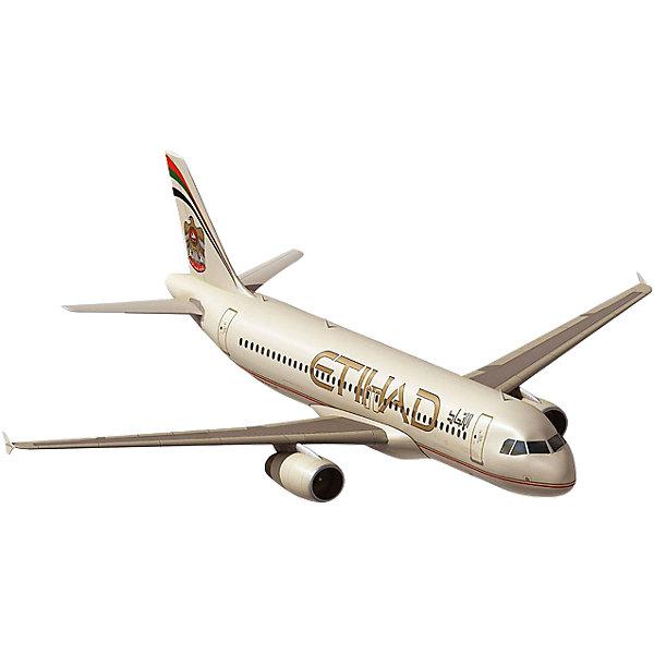 Самолет Airbus A320 EtihadМодели для склеивания<br>Характеристики товара:<br><br>• возраст: от 10 лет;<br>• масштаб: 1:144;<br>• количество деталей: 60 шт;<br>• материал: пластик; <br>• клей и краски в комплект не входят;<br>• длина модели: 26,1 см;<br>• размах крыльев: 23,5 см;<br>• бренд, страна бренда: Revell (Ревел),Германия;<br>• страна-изготовитель: Китай.<br><br>Сборная модель для склеивания «Самолет Airbus A320 Etihad» поможет вам и вашему ребенку придумать увлекательное занятие на долгое время и заполнит досуг веселой игрой. <br><br>Набор включает в себя 60 элементов из высококачественного пластика, лист с наклейками,  1 рамка (фонарь кабины), схема для окрашивания модели и инструкция, с помощью которых можно собрать достоверную уменьшенную копию настоящего аэробуса.<br> <br>Процесс сборки развивает интеллектуальные и инструментальные способности, воображение и конструктивное мышление, а также прививает практические навыки работы со схемами и чертежами. <br><br>Обращаем ваше внимание на тот факт, что для сборки этой модели клей и краски в комплект не входят. <br><br>Сборную модель для склеивания «Самолет Airbus A320 Etihad», 60 дет., Revell (Ревел) можно купить в нашем интернет-магазине.<br><br>Ширина мм: 353<br>Глубина мм: 215<br>Высота мм: 48<br>Вес г: 236<br>Возраст от месяцев: 168<br>Возраст до месяцев: 228<br>Пол: Мужской<br>Возраст: Детский<br>SKU: 4125560