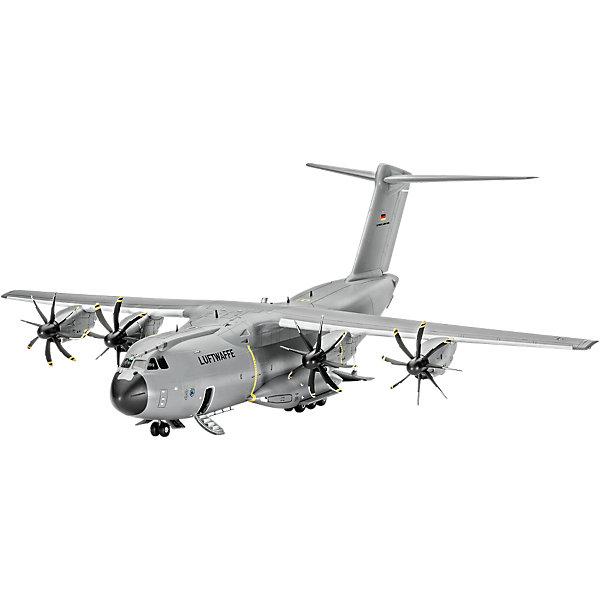 Самолет военно-транспортный Airbus A400 M AtlasСамолеты и вертолеты<br>Характеристики товара:<br><br>• возраст: от 10 лет;<br>• цвет: белый;<br>• масштаб: 1:44;<br>• количество деталей: 120 шт;<br>• материал: пластик; <br>• клей и краски в комплект не входят;<br>• длина модели: 31,3 см;<br>• размах крыльев: 29,4 см;<br>• бренд, страна бренда: Revell (Ревел), Германия;<br>• страна-изготовитель: Корея.<br><br>Сборная модель «Самолет военно-транспортный Airbus A400 M Atlas» поможет вам и вашему ребенку собрать точную копию реального военно-транспортного самолета, выполненную в масштабе 1:44 из высококачественного пластика.<br><br>Самолет A400M был разработан относительно недавно, стоимость проекта превысила 20 млрд евро. На начало 2008 года был запланирован его первый полет, однако его неоднократно переносили, и он состоялся только в декабре 2009 года. Главные задачи самолета: переброска войск, а также грузов.<br><br>В комплект набора для склеивания и раскрашивания входит 120 пластиковых деталей, а также подробная иллюстрирована инструкция. Обращаем ваше внимание на тот факт, что для сборки этой модели клей и краски в комплект не входят. <br><br>Моделирование — это очень увлекательное и полезное занятие, которое по достоинству оценят не только дети, но и взрослые, увлекающиеся военной техникой. Сборка моделей поможет ребенку развить воображение, мелкую моторику ручек и логическое мышление.<br><br>Сборную модель «Самолет военно-транспортный Airbus A400 M Atlas», 120 дет., Revell (Ревел) можно купить в нашем интернет-магазине.<br><br>Ширина мм: 540<br>Глубина мм: 210<br>Высота мм: 73<br>Вес г: 557<br>Возраст от месяцев: 144<br>Возраст до месяцев: 192<br>Пол: Мужской<br>Возраст: Детский<br>SKU: 4125566