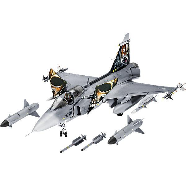 Самолет Истребитель Сааб JAS 39 «Грипен», шведскийСамолеты и вертолеты<br>Характеристики товара:<br><br>• возраст: от 10 лет;<br>• цвет: белый;<br>• масштаб: 1:72<br>• количество деталей: 110 шт;<br>• материал: пластик;<br>• клей и краски в комплект не входят;<br>• длина модели: 20,2 см;<br>• размах крыльев: 12,7 см;<br>• бренд, страна бренда: Revell (Ревел),Германия;<br>• страна-изготовитель: Польша.<br><br>Сборная модель для склеивания «Самолет Истребитель Сааб JAS 39 «Грипен», шведский» поможет вам и вашему ребенку придумать увлекательное занятие на долгое время. <br><br>Набор включает в себя 110 пластиковых элементов, из которых можно собрать достоверную уменьшенную копию одноименного истребителя. В комплект также входит лист с наклейками и схематичная инструкция.<br><br>Опытный образец совершил свой первый полет в 1988 году. Сейчас состоит на вооружении 5 стран. Всего было построено 264 машины Saab JAS-39 способен выполнять функции истребителя, штурмовика и разведчика. Вооружение самолета состоит из 27-мм пушки. Saab JAS-39 способен нести бомбы и ракеты общей массой до 4200 кг. <br> <br>Процесс сборки развивает интеллектуальные и инструментальные способности, воображение и конструктивное мышление, а также прививает практические навыки работы со схемами и чертежами. <br><br>Обращаем ваше внимание на тот факт, что для сборки этой модели клей и краски в комплект не входят. <br>Сборную модель для склеивания «Самолет Истребитель Сааб JAS 39 «Грипен», шведский», 110 дет., Revell (Ревел) можно купить в нашем интернет-магазине.<br>Ширина мм: 351; Глубина мм: 215; Высота мм: 48; Вес г: 276; Возраст от месяцев: 144; Возраст до месяцев: 192; Пол: Мужской; Возраст: Детский; SKU: 4125571;