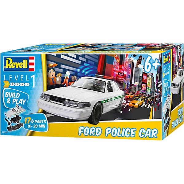 Полицейская машина Ford Собери и играйАвтомобили<br>Характеристики товара:<br><br>• возраст: от 8 лет;<br>• масштаб: 1:25;<br>• количество деталей: 17 шт;<br>• материал: пластик; <br>• клей и краски в комплект не входят;<br>• длина модели: 21,5 см;<br>• бренд, страна бренда: Revell (Ревел),Германия;<br>• страна-изготовитель: Китай.<br><br>Сборная модель «Полицейская машина Ford» из серии «Собери и играй» поможет вам и вашему ребенку придумать увлекательное занятие на долгое время. <br><br>Набор для сборки включает состоит из 17 деталей, которые легко соединяются друг с другом и без помощи клея. Полицейская машина марки Ford, выполненная в масштабе 1:24, станет неотъемлемой частью скоростной погони за преступниками, сделав тематическую игру более реалистичной, придав ей динамики.<br><br>Процесс сборки развивает интеллектуальные и инструментальные способности, воображение и конструктивное мышление, а также прививает практические навыки работы со схемами и чертежами.<br><br>Сборную модель «Полицейская машина Ford», 17 дет., Revell (Ревел) можно купить в нашем интернет-магазине.<br>Ширина мм: 242; Глубина мм: 111; Высота мм: 115; Вес г: 232; Возраст от месяцев: 60; Возраст до месяцев: 108; Пол: Мужской; Возраст: Детский; SKU: 4125581;