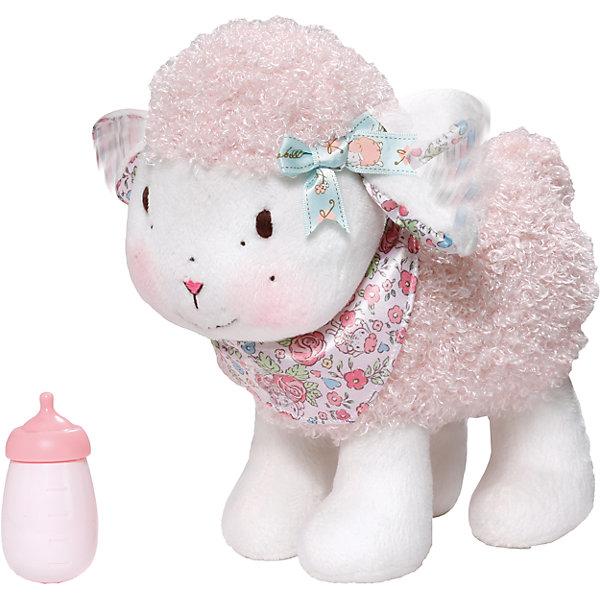 Овечка функциональная, Baby AnnabellИнтерактивные мягкие игрушки<br>Милая Овечка от Zapf Creation высотой 23 см. Она не только мягкая на ощупь и выполнена в нежных пастельных тонах, но и функциональна. При нажатии на спинку, овечка начинает ходить, шевеля ушками вверх - вниз, и блеять. А при питье из бутылочки, она забавно причмокивает! Овечка выполнена из гипоаллергенного высококачественного плюша и абсолютно безопасна даже для самых маленьких детей.<br><br>Ширина мм: 341<br>Глубина мм: 317<br>Высота мм: 218<br>Вес г: 719<br>Возраст от месяцев: 24<br>Возраст до месяцев: 48<br>Пол: Женский<br>Возраст: Детский<br>SKU: 4128869