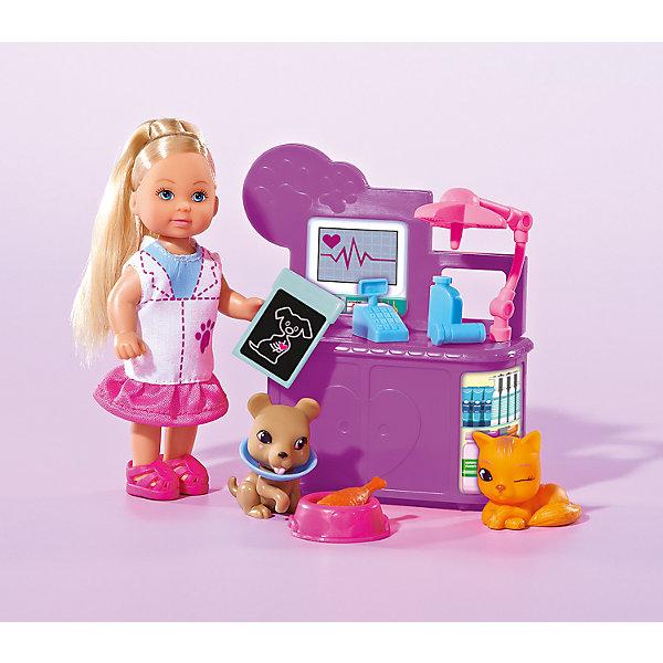 Кукла Еви-ветеринар, SimbaКуклы<br>Характеристики товара:<br><br>- цвет: разноцветный;<br>- материал: пластик;<br>- возраст: от трех лет;<br>- комплектация: кукла, аксессуары;<br>- высота куклы: 12 см.<br><br>Эта симпатичная кукла Еви от известного бренда не оставит девочку равнодушной! Какая девочка сможет отказаться поиграть с куклами, которые дополнены комплектом специальных предметов?! В набор входят аксессуары для игр с куклой. Игрушка очень качественно выполнена, поэтому она станет замечательным подарком ребенку. <br>Продается набор в красивой удобной упаковке. Игры с куклами помогают девочкам развить важные навыки и отработать модели социального взаимодействия. Изделие произведено из высококачественного материала, безопасного для детей.<br><br>Набор кукла Еви-ветеринар от бренда Simba можно купить в нашем интернет-магазине.<br>Ширина мм: 203; Глубина мм: 167; Высота мм: 55; Вес г: 190; Возраст от месяцев: 36; Возраст до месяцев: 84; Пол: Женский; Возраст: Детский; SKU: 4129100;