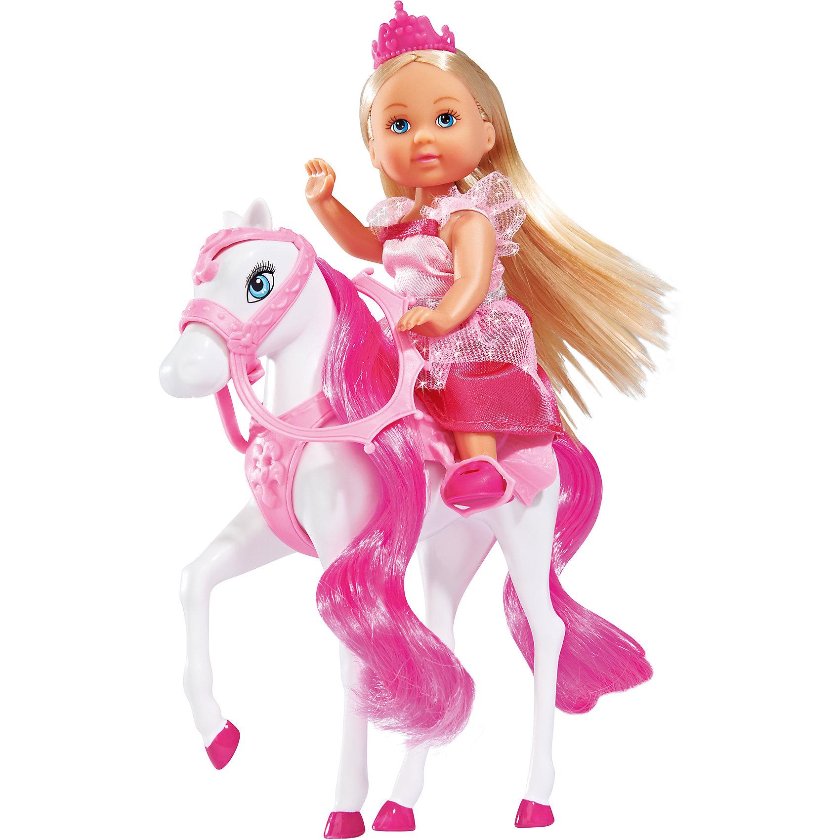 Кукла Еви на лошади, SimbaSteffi и Evi Love<br>Характеристики товара:<br><br>- цвет: разноцветный;<br>- материал: пластик;<br>- возраст: от трех лет;<br>- комплектация: кукла, одежда, лошадь;<br>- высота куклы: 12 см.<br><br>Эта симпатичная кукла Еви от известного бренда приводит детей в восторг! Какая девочка сможет отказаться поиграть с куклой, у которой есть лошадь?! В набор входят одежда и лошадь. Игрушка очень качественно выполнена, поэтому она станет замечательным подарком ребенку. <br>Продается набор в красивой удобной упаковке. Игры с куклами помогают девочкам развить важные навыки и отработать модели социального взаимодействия. Изделие произведено из высококачественного материала, безопасного для детей.<br><br>Куклу Еви на прыгающей лошади от бренда Simba можно купить в нашем интернет-магазине.<br><br>Ширина мм: 164<br>Глубина мм: 162<br>Высота мм: 48<br>Вес г: 150<br>Возраст от месяцев: 36<br>Возраст до месяцев: 72<br>Пол: Женский<br>Возраст: Детский<br>SKU: 4129101