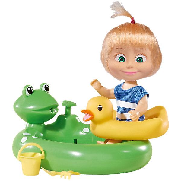 Кукла Маша с бассейном, Маша и Медведь, SimbaКуклы<br>Кукла Маша с бассейном, Маша и Медведь, Simba (Симба) – это прекрасный игровой набор по мотивам мультсериала Маша и медведь.<br>Главная героиня знаменитого мультсериала «Маша и Медведь» собралась купаться в бассейне. Маша одета в красивый купальный костюмчик в полоску, на голове - смешной хвостик. У нее есть спасательный круг-утенок, а также ведерко, грабельки, лопатка, с которыми Маша очень любит играть в песке и бассейн в виде лягушонка. Пока в бассейне будет вода, ребенок сможет, нажимая на специальный поршень, заставить лягушонка забавно плеваться водой изо рта. Набор Маша с бассейном от Simba (Симба) - отличная игрушка, с которой можно развлекаться и в комнате, и в ванной.<br><br>Дополнительная информация:<br><br>- В наборе: кукла в купальнике, бассейн в виде лягушонка с брызгалкой, плавательный круг, ведерко, лопатка, грабли<br>- Высота куклы: 12 см.<br>- Материал: пластик, текстиль<br>- Размер упаковки: 17 х 7.5 х 16 см.<br>- Вес: 200 гр.<br><br>Куклу Машу с бассейном, Маша и Медведь, Simba (Симба) можно купить в нашем интернет-магазине.<br><br>Ширина мм: 186<br>Глубина мм: 161<br>Высота мм: 82<br>Вес г: 231<br>Возраст от месяцев: 36<br>Возраст до месяцев: 84<br>Пол: Женский<br>Возраст: Детский<br>SKU: 4129103