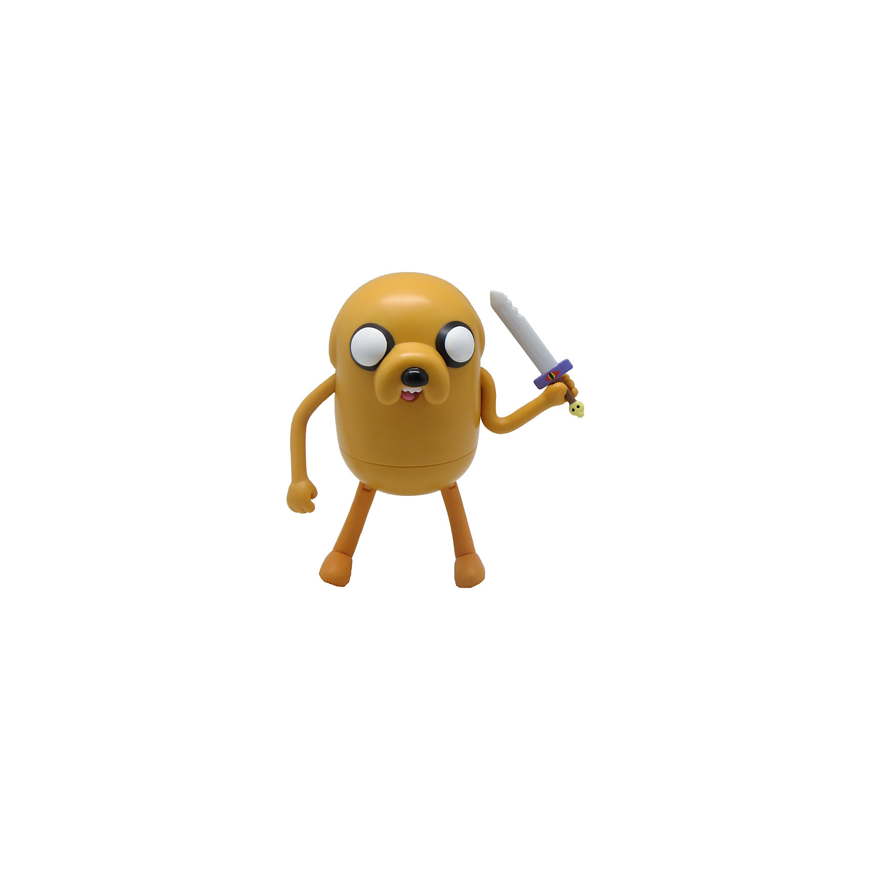 Фигурка Джейк, 14 см, Время приключенийЗабавная фигурка Джейка с мечом непременно понравится всем любителям мультсериала Время приключений (Adventure Time). Джейк - волшебный пёс, лучший друг Финна и его сводный брат. Он выглядит как жёлтый бульдог с большими глазами. Джейк умеет растягиваться и управлять своим телом, заставляя его принимать любую форму. <br><br>Дополнительная информация:<br><br>- Материал: пластик.<br>- Высота фигурки: 14 см. <br>- Подвижные руки и ноги.<br><br>Фигурку Джейка, 25 см, Время приключений, можно купить в нашем магазине.<br><br>Ширина мм: 50<br>Глубина мм: 150<br>Высота мм: 180<br>Вес г: 300<br>Возраст от месяцев: 72<br>Возраст до месяцев: 144<br>Пол: Унисекс<br>Возраст: Детский<br>SKU: 4130189