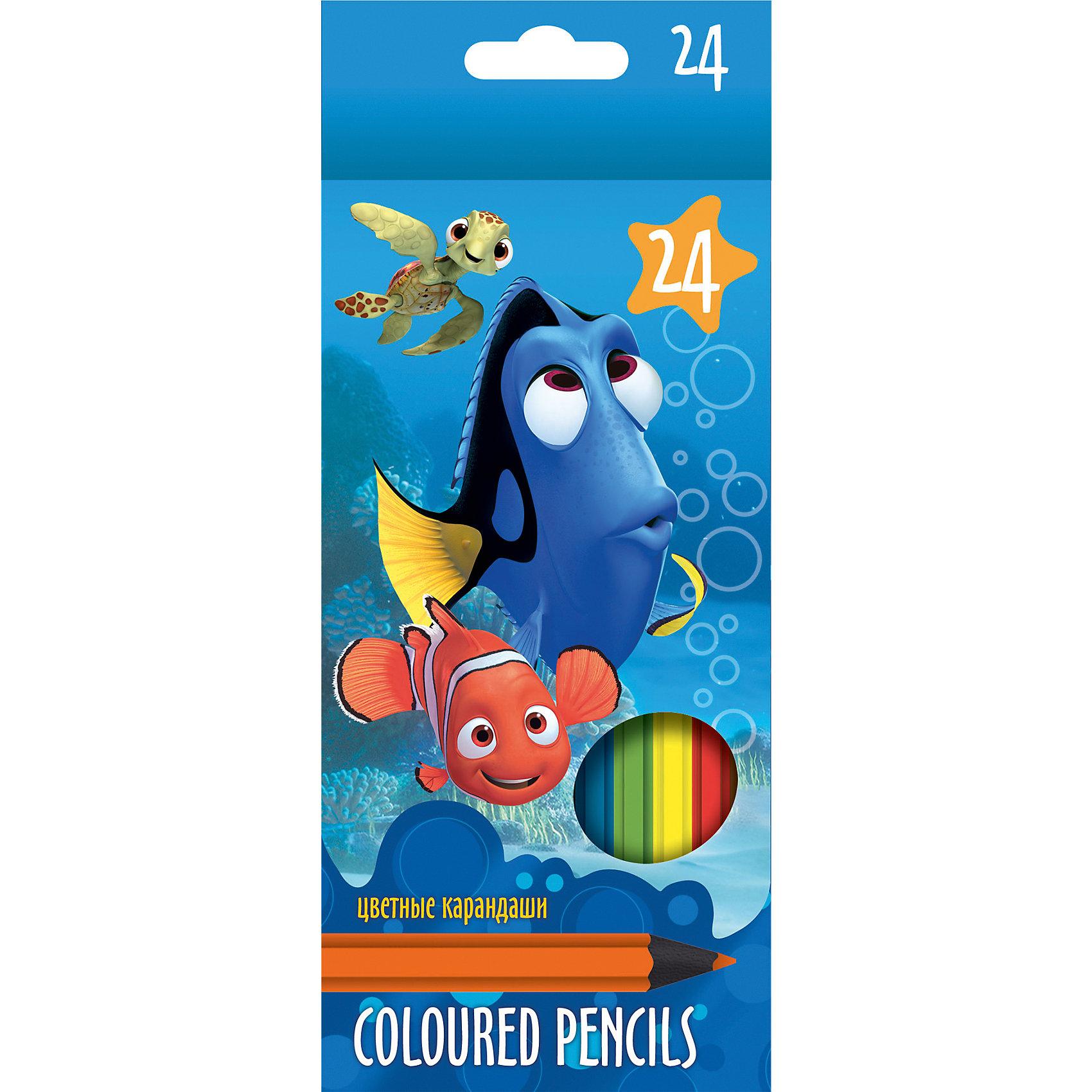 Limpopo Цветные карандаши Немо 24 цвета фломастеры limpopo фломастеры limpopo max speed 24 цвета