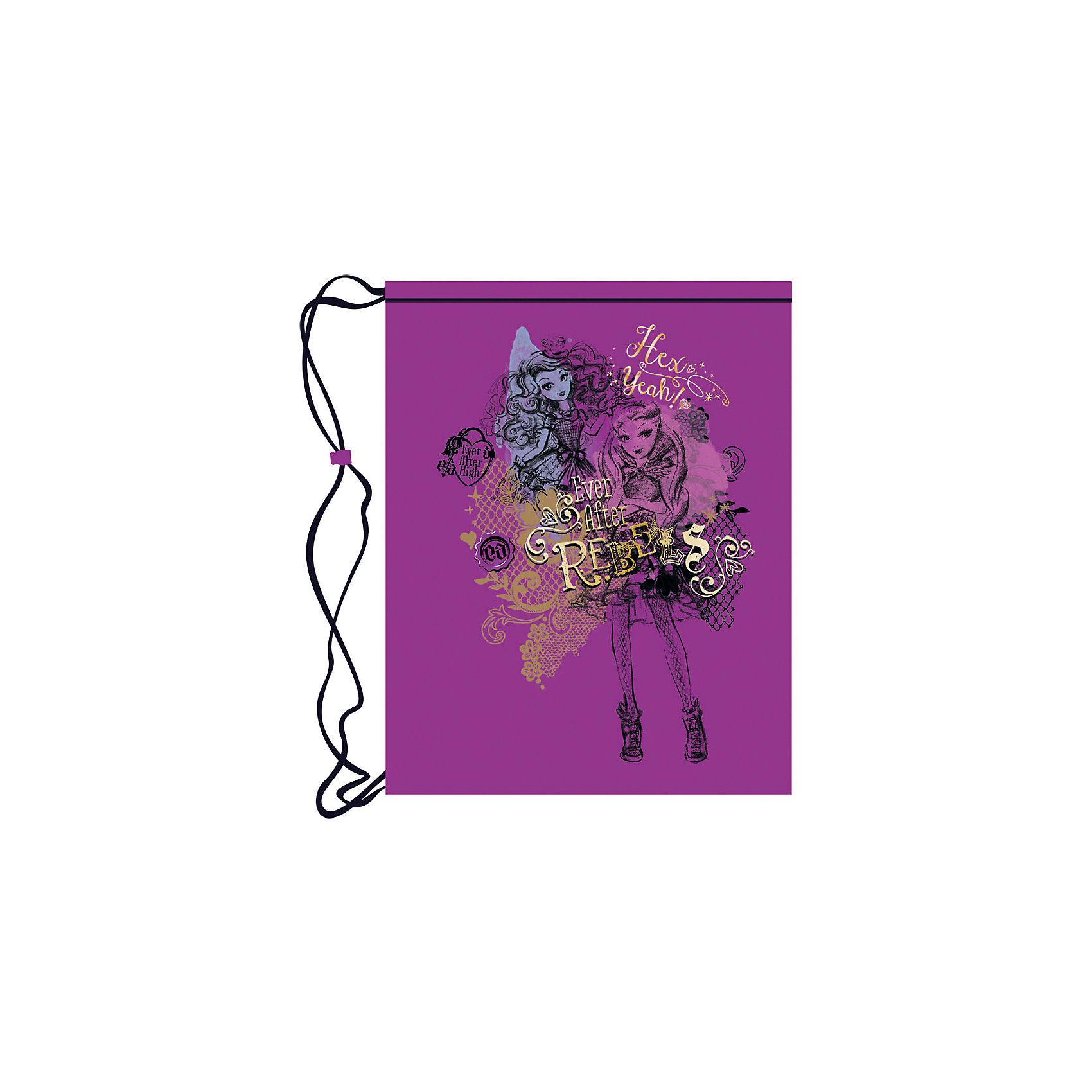 Фиолетовый мешок для обуви Ever after HighМешок для обуви Ever after High (Эвер Афтер Хай) идеально подойдет для сменной обуви маленькой школьницы и для физкультурной формы. Мешок выполнен из прочной ткани с водоотталкивающим покрытием, затягивается специальными уплотненными шнурками, выполняющими одновременно<br>роль лямок. Мешок имеет привлекательный для девочек дизайн с сиреневой расцветкой и изображением героинь популярного мультсериала Ever after High (Эвер Афтер Хай) (Школа Долго и Счастливо).<br><br>Дополнительная информация:<br><br>- Материал: полиэстер 210D.<br>- Размер: 43 х 33 см.<br>- Вес: 40 гр. <br><br>Фиолетовый мешок для обуви Ever after High (Эвер Афтер Хай) можно купить в нашем интернет-магазине.<br><br>Ширина мм: 200<br>Глубина мм: 430<br>Высота мм: 330<br>Вес г: 40<br>Возраст от месяцев: 48<br>Возраст до месяцев: 96<br>Пол: Женский<br>Возраст: Детский<br>SKU: 4131189