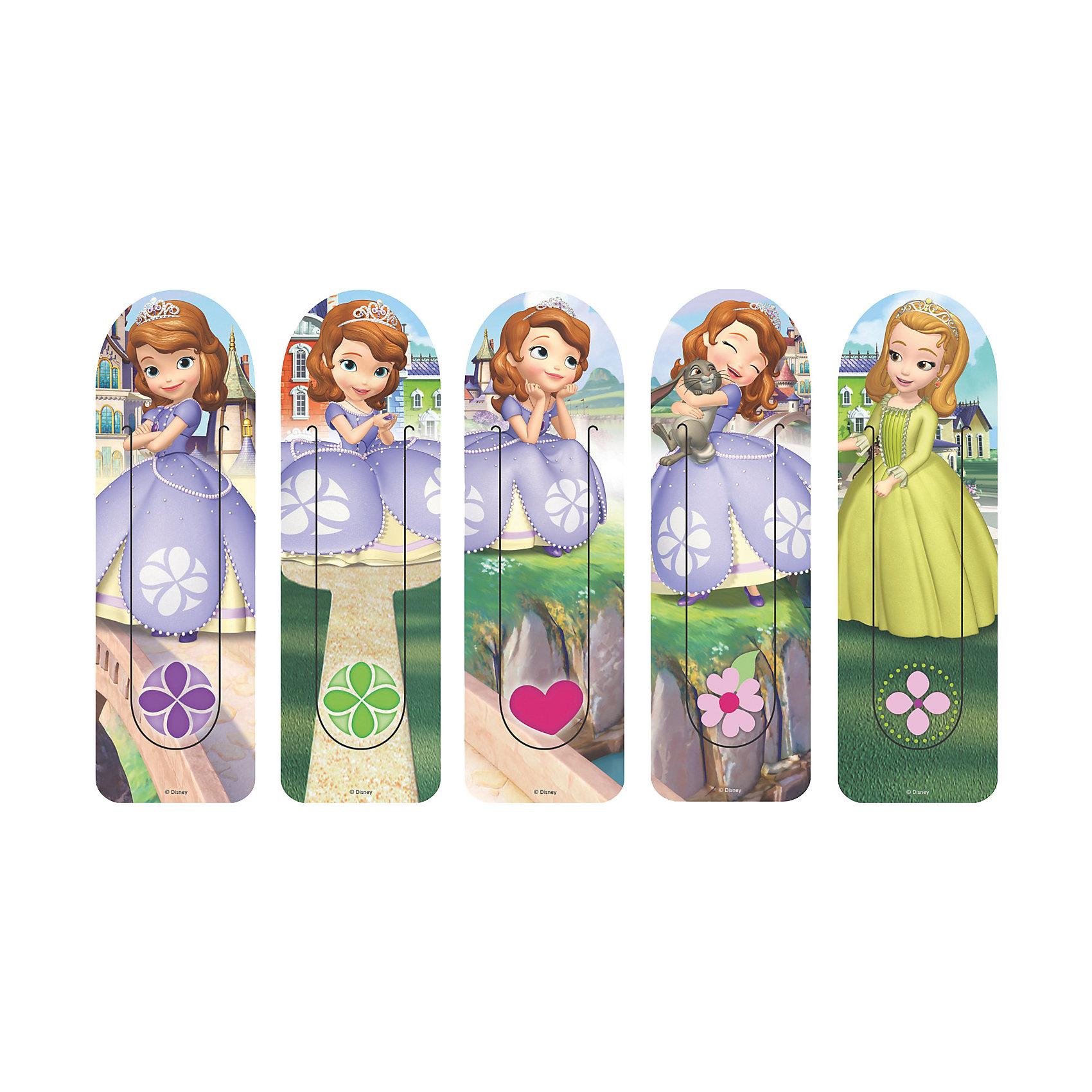 Набор закладок Принцесса София (5 шт)