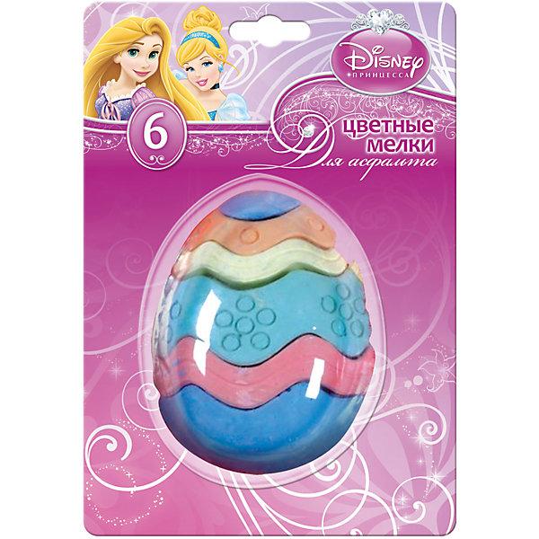 Мел цветной для асфальта Принцессы ДиснейМелки для асфальта<br>Мелки Принцессы Дисней замечательно подойдут для рисования на асфальте и различных поверхностях. Комплект выполнен в оригинальной форме многослойного яйца из разноцветных слоев-мелков. Мелки отличаются высоким качеством, прекрасно рисуют и обладают насыщенными цветами, что помогает создавать яркие картинки. В комплекте 6 разноцветных мелков, оформленных в блистерную упаковку с изображением волшебных принцесс из популярных диснеевских сказок.<br><br>Дополнительная информация:<br><br>- В комплекте: 6 штук.<br>- Размер упаковки: 3,5 х 23 x 21 см.<br>- Вес: 0,16 кг.<br><br>Цветные мелки Принцессы Дисней для асфальта можно купить в нашем интернет-магазине.<br>Ширина мм: 35; Глубина мм: 230; Высота мм: 210; Вес г: 160; Возраст от месяцев: 48; Возраст до месяцев: 96; Пол: Мужской; Возраст: Детский; SKU: 4131219;