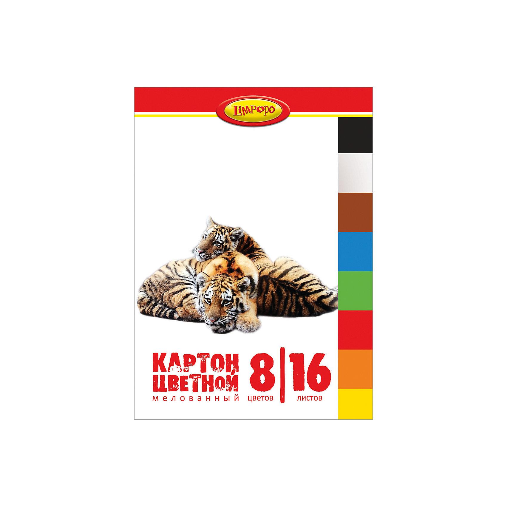 Цветной картон А4 Хищники 8 цветов, 16 листовЦветной картон Хищники - это отличный материал для детского творчества, поделок и аппликаций. В комплект входят 16 листов мелованного цветного картона 8 цветов. Листы упакованы в папку с изображениями очаровательных тигров.<br><br>Дополнительная информация:<br><br>- В комплекте: 16 листов 8 цветов.<br>- Материал: картон, бумага.<br>- Формат: A4. <br>- Размер: 30 х 0,5 х 21 см.<br>- Вес: 218 гр.<br><br>Цветной картон А4 Хищники 8 цветов, 16 листов, можно купить в нашем интернет-магазине.<br><br>Ширина мм: 5<br>Глубина мм: 300<br>Высота мм: 210<br>Вес г: 218<br>Возраст от месяцев: 48<br>Возраст до месяцев: 96<br>Пол: Унисекс<br>Возраст: Детский<br>SKU: 4131221