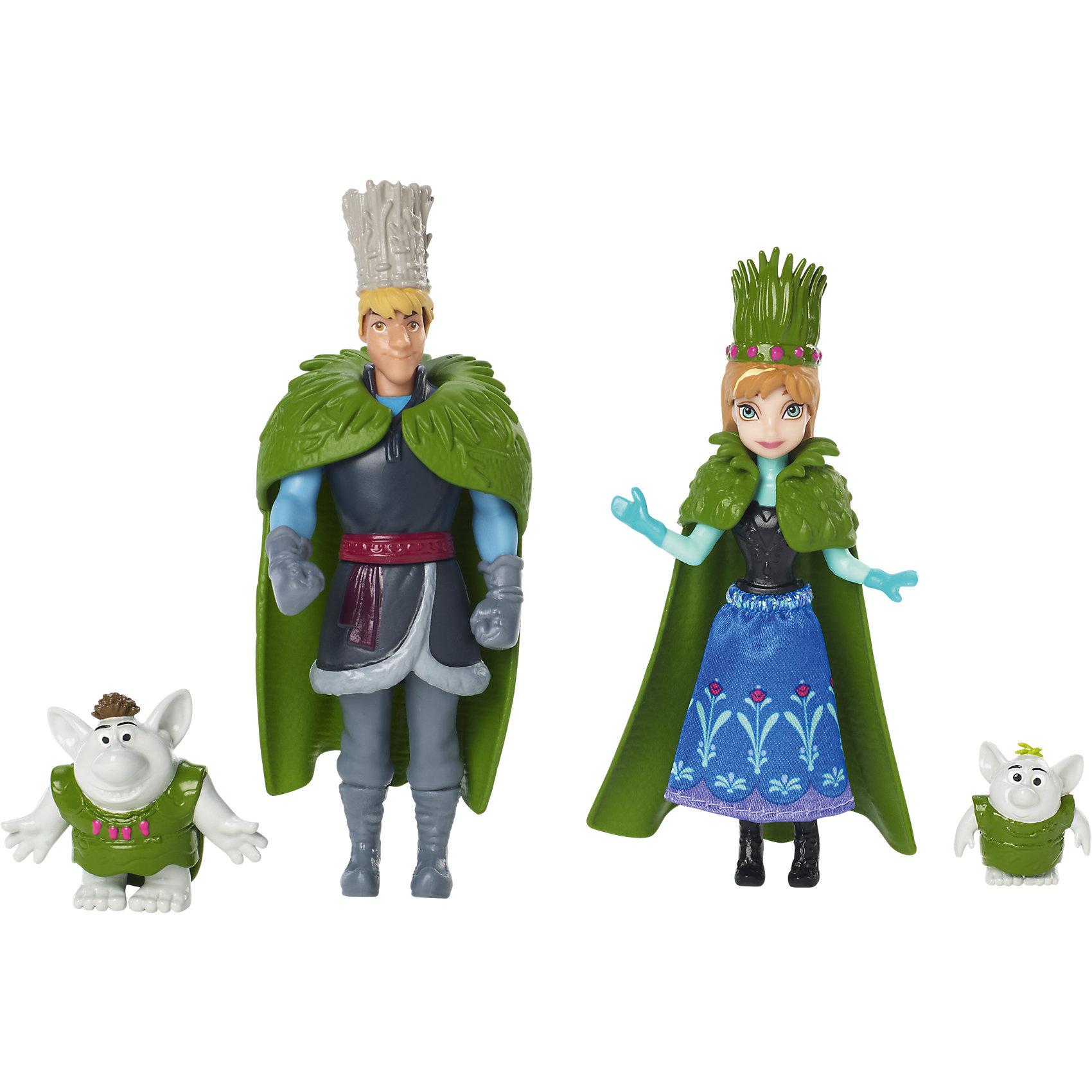 Mattel Куклы Анна и Кристоф Холодное Сердце, в наборе с 2 троллями, Принцессы Дисней mattel принцесса c домиком и аксессуарами принцессы дисней
