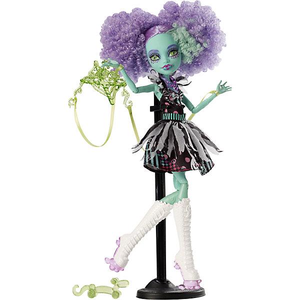 Кукла Фрик дю Шик  Шапито, Monster HighКуклы<br>Ученики школы Monster High (Монстр Хай) знают, как представить свои жуткие недостатки в наилучшем виде. Невероятный танец Фрик дю Шик станет для наших монстров лекарством от всех невзгод. Монстрики готовы блеснуть в свете прожекторов, примерив на себя амплуа цирковых артистов. Хани Свомп выступает в роли марионетки с привязанными к конечностям ниточками, она одета в стильное черно-розовое платье, на ногах у модницы - невероятные сапоги на платформе. Умопомрачительный образ для самой безумной вечеринки! <br><br>Дополнительная информация:<br><br>- Высота куклы: 27 см.<br>- Голова, ноги, руки подвижные (шарнирные).<br>- Комплектация: кукла, одежда, расческа, подставка, дневник. <br>- Материал: пластик, текстиль.<br><br>Куклу Фрик дю Шик  Шапито, Monster High (Школа монстров),  можно купить в нашем магазине.<br><br>Ширина мм: 326<br>Глубина мм: 205<br>Высота мм: 67<br>Вес г: 297<br>Возраст от месяцев: 72<br>Возраст до месяцев: 120<br>Пол: Женский<br>Возраст: Детский<br>SKU: 4132323