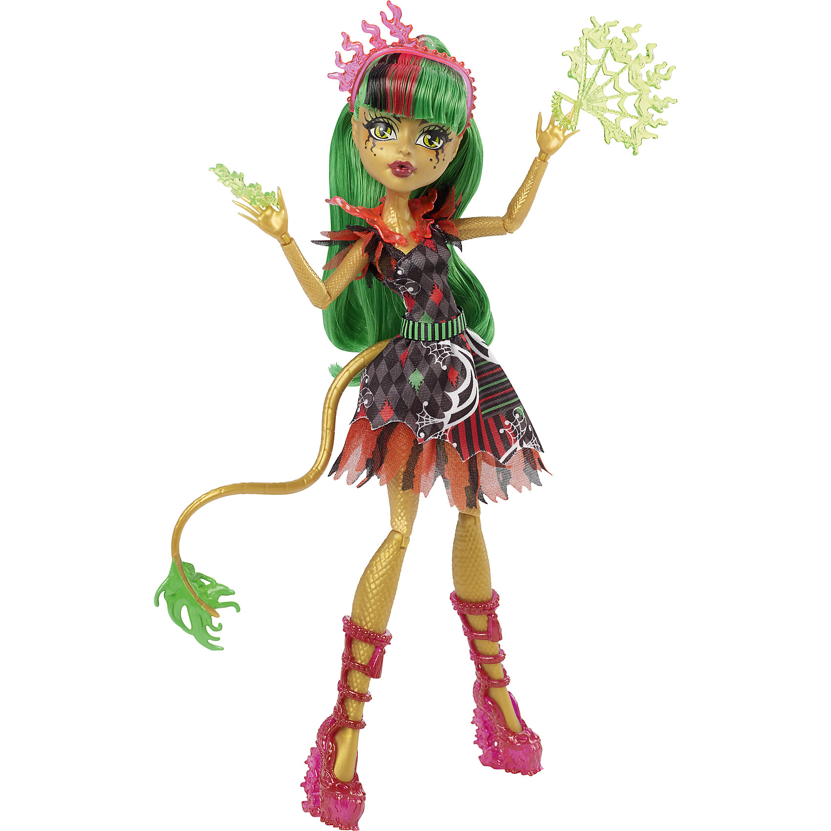 Mattel Кукла Джинафайер Лонг Шапито, Monster High mattel monster high dnx65 дракулаура в трансформирующемся наряде