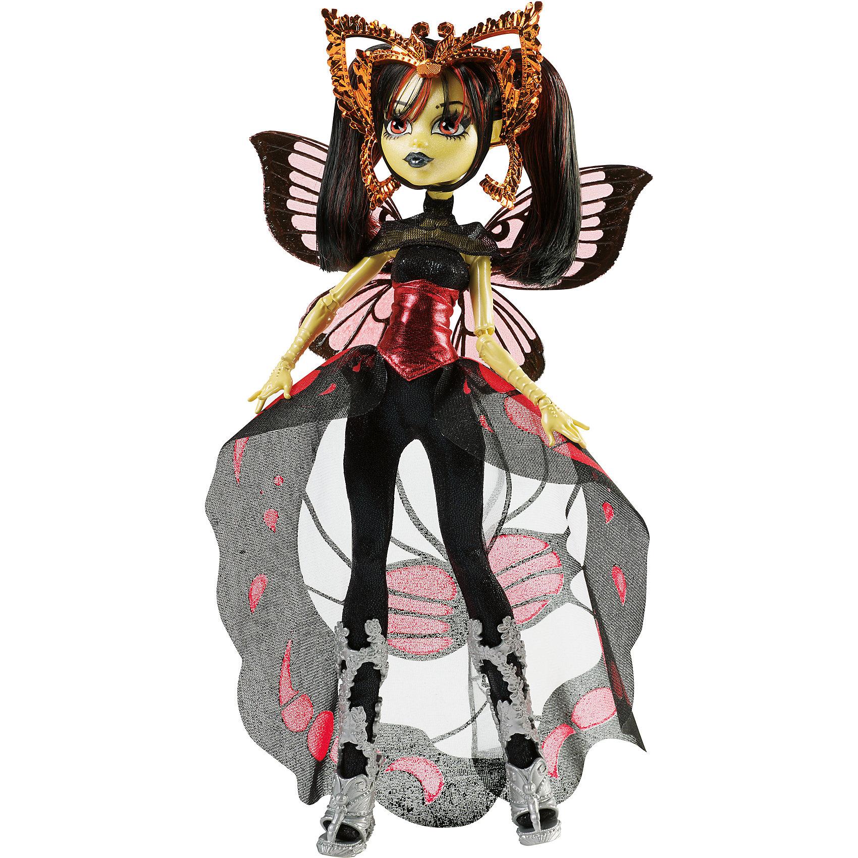 Кукла Луна Мотьюз Boo York, Monster HighLuna Mothews - яркая дочка человека-мотылька. Девочку притягивают сцена и слава. Она обожает играть различные роли и, конечно, танцевать. Луна не любит рано вставать, зато прекрасно разбирается в моде и стиле. Девочка блистает в готическом комбинезоне с длинным полупрозрачным шлейфом, удачно дополненном ее очаровательными крылышками и ободком с усиками. Собери всех кукол Monster High (Монстр Хай) из серии «Boo York» и устрой свою сногсшибательную вечеринку! <br><br>Дополнительная информация:<br><br>- Высота куклы: 27 см.<br>- Голова, ноги, руки подвижные (шарнирные).<br>- Комплектация: кукла, одежда, расческа, подставка, дневник. <br>- Материал: пластик, текстиль.<br><br>Куклу Луна Мотьюз Boo York, Monster High (Школа монстров), можно купить в нашем магазине.<br><br>Ширина мм: 329<br>Глубина мм: 230<br>Высота мм: 69<br>Вес г: 309<br>Возраст от месяцев: 72<br>Возраст до месяцев: 120<br>Пол: Женский<br>Возраст: Детский<br>SKU: 4132330