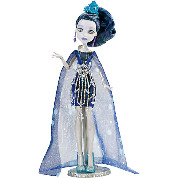 Кукла Элль Иди  Boo York, Monster HighКуклы<br>Elle EeDee - дочь роботов, она не может танцевать, потому что жутко гремит и у нее может сгореть предохранитель. Зато она любит микшировать музыку: из нее выйдет отличный ди-джей. Девушка обожает работать с металлом и заниматься программированием. Модница-Элль Иди предпочла четкие линии футуристического платья, дополненного металлическим поясом и верхней юбкой, накидкой с ярким узором, ярко-голубыми сапожками и убийственно крутым головным убором. Собери всех кукол Monster High (Монстр Хай) из серии «Boo York» и устрой свою сногсшибательную вечеринку! <br><br>Дополнительная информация:<br><br>- Высота куклы: 27 см.<br>- Голова, ноги, руки подвижные (шарнирные).<br>- Комплектация: кукла, одежда, расческа, подставка, дневник. <br>- Материал: пластик, текстиль.<br><br>Куклу Элль Иди  Boo York, Monster High (Школа монстров), В АССОРТИМЕНТЕ, можно купить в нашем магазине.<br><br>Ширина мм: 326<br>Глубина мм: 230<br>Высота мм: 69<br>Вес г: 287<br>Возраст от месяцев: 72<br>Возраст до месяцев: 120<br>Пол: Женский<br>Возраст: Детский<br>SKU: 4132331
