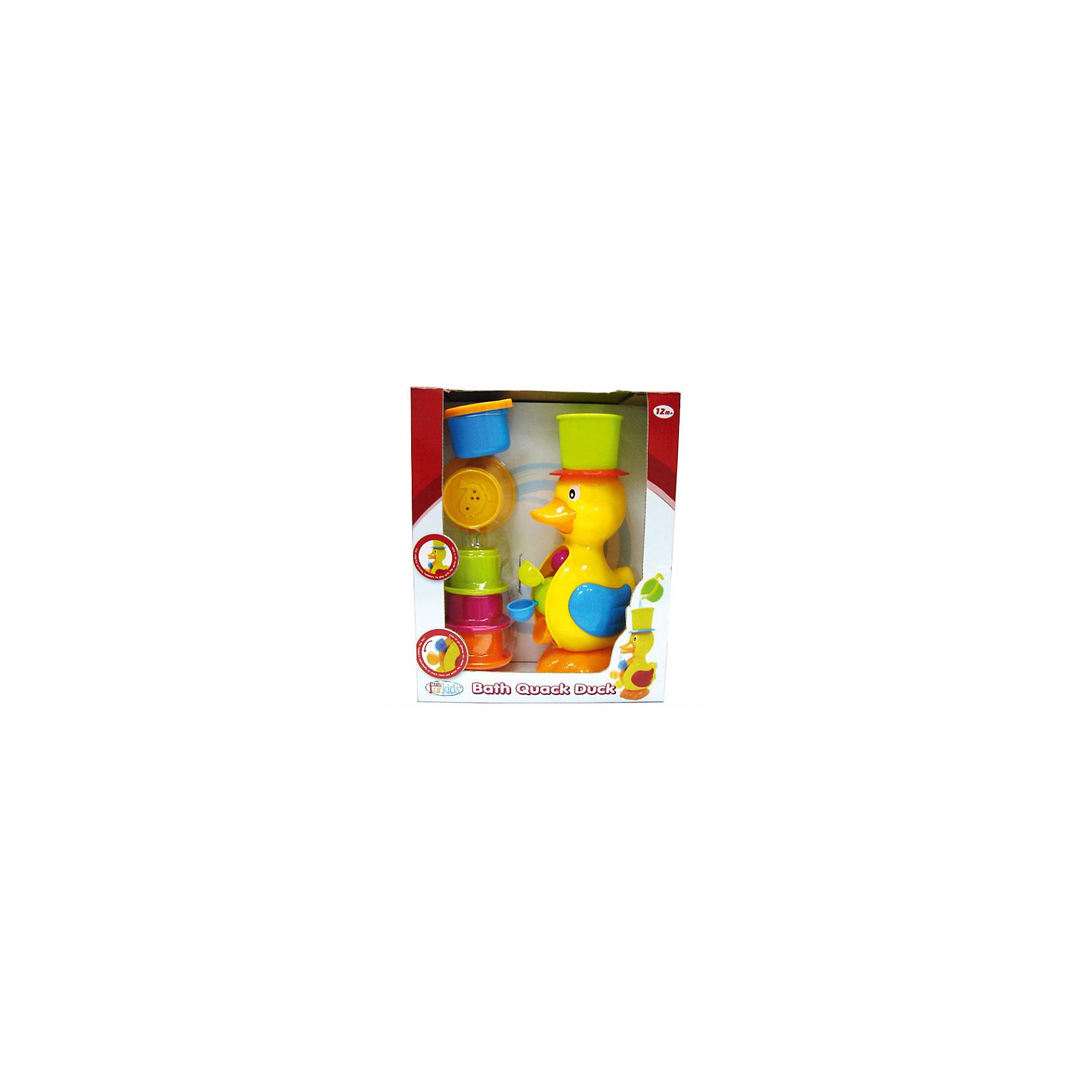 Игрушка для воды Веселая мельничка, Fun for kidsУточка для ванной – классическая игрушка, которая сделает купание приятным. Однако бренд Fun For Kids предлагает новый взгляд на традиционные развлечения. Теперь утенок – это не только забавный друг, но и настоящая водная мельница, которая делает игру еще более интересной! <br>Наливайте воду в шапочку утенка. Жидкость будет выливаться через клюв птицы, приводя в движение емкости, расположенные в животе-барабане утки. Так малыш на наглядном примере познакомится с принципом работы водной мельницы. <br>Игрушка изготовлена из прочной нетоксичной пластмассы, снабжена присосками для закрепления на стенах ванной. <br><br>Дополнительная информация:<br><br>Размеры коробки: 27х33х10,5 см.<br><br>Игрушку для воды Веселая мельничка, Fun for kids можно купить в нашем магазине.<br><br>Ширина мм: 270<br>Глубина мм: 330<br>Высота мм: 105<br>Вес г: 700<br>Возраст от месяцев: 12<br>Возраст до месяцев: 48<br>Пол: Унисекс<br>Возраст: Детский<br>SKU: 4133144
