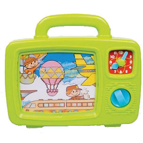 Телевизор, Red BoxИнтерактивные игрушки для малышей<br>Яркий телевизор для самых маленьких: разноцветная картинка медленно перемещается по экрану, сменяя один пейзаж на другой, при этом сопровождается музыкальной мелодией. Телевизор имеет ручку, за которую малышу будет очень удобно брать и переносить его. <br><br>Дополнительная информация:<br><br>- Материал: пластик.<br>- Размер упаковки: 24,5х54х20 см.<br>- Элемент питания: 3 АА батарейки (в комплекте).<br><br>Телевизор, Red Box, можно купить в нашем магазине.<br>Ширина мм: 240; Глубина мм: 55; Высота мм: 200; Вес г: 5000; Возраст от месяцев: 12; Возраст до месяцев: 36; Пол: Унисекс; Возраст: Детский; SKU: 4134071;
