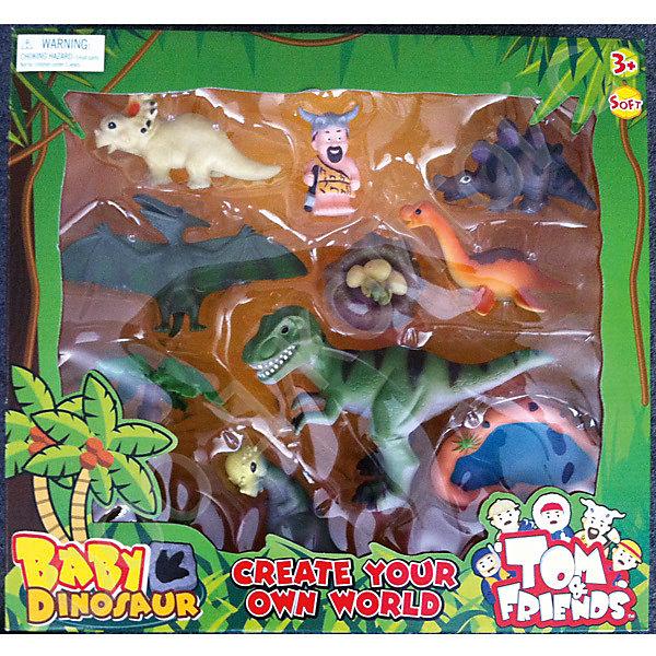 Набор динозавров, Toy MajorИгровые наборы с фигурками<br>Этот красочный набор динозавров обязательно понравится всем малышам! Фигурки выполнены из высококачественных материалов, прекрасно детализированы и реалистично раскрашены.<br><br>Дополнительная информация:<br><br>- Материал: пластик.<br>- Размер упаковки: 41,5х38,5х10 см.<br>- 11 фигурок в наборе.<br><br>Набор динозавров, Toy Major, можно купить в нашем магазине.<br><br>Ширина мм: 420<br>Глубина мм: 100<br>Высота мм: 390<br>Вес г: 500<br>Возраст от месяцев: 36<br>Возраст до месяцев: 72<br>Пол: Унисекс<br>Возраст: Детский<br>SKU: 4134072