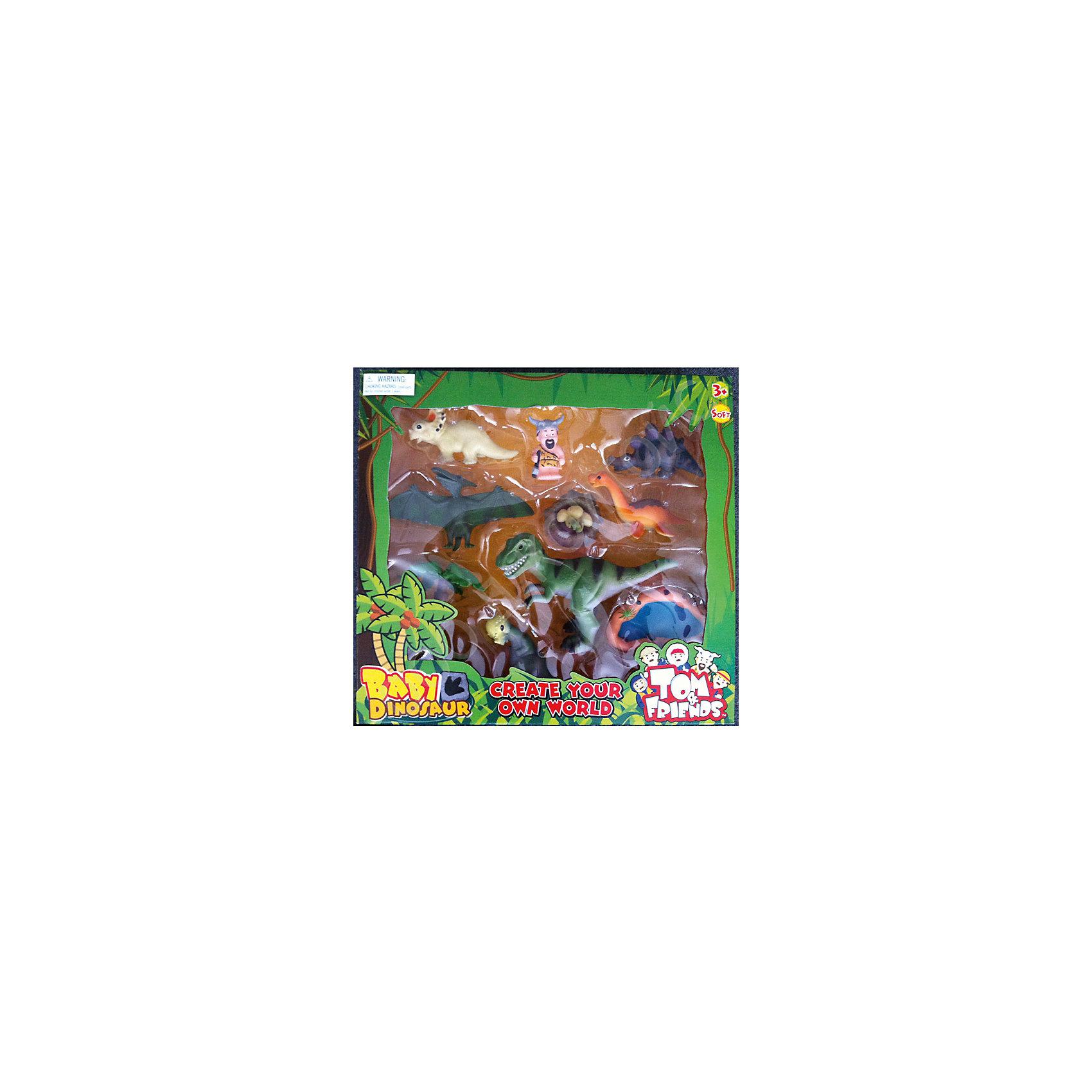 Набор динозавров, Toy MajorЭтот красочный набор динозавров обязательно понравится всем малышам! Фигурки выполнены из высококачественных материалов, прекрасно детализированы и реалистично раскрашены.<br><br>Дополнительная информация:<br><br>- Материал: пластик.<br>- Размер упаковки: 41,5х38,5х10 см.<br>- 11 фигурок в наборе.<br><br>Набор динозавров, Toy Major, можно купить в нашем магазине.<br><br>Ширина мм: 420<br>Глубина мм: 100<br>Высота мм: 390<br>Вес г: 500<br>Возраст от месяцев: 36<br>Возраст до месяцев: 72<br>Пол: Унисекс<br>Возраст: Детский<br>SKU: 4134072