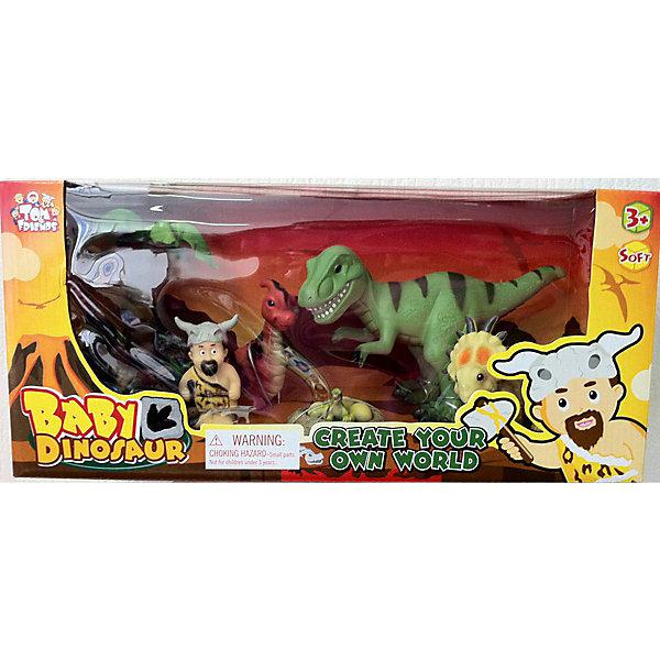 Набор динозавров, Toy MajorИгровые наборы с фигурками<br>Этот красочный набор динозавров обязательно понравится всем малышам! Фигурки выполнены из высококачественных материалов, прекрасно детализированы и реалистично раскрашены.<br><br>Дополнительная информация:<br><br>- Материал: пластик.<br>- Размер упаковки: 38х18х14 см.<br><br>Набор динозавров, Toy Major, можно купить в нашем магазине.<br><br>Ширина мм: 380<br>Глубина мм: 140<br>Высота мм: 170<br>Вес г: 350<br>Возраст от месяцев: 36<br>Возраст до месяцев: 72<br>Пол: Унисекс<br>Возраст: Детский<br>SKU: 4134073