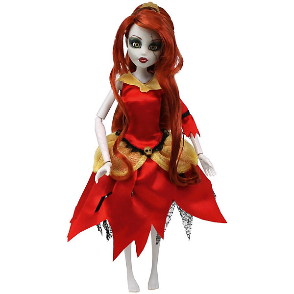 Кукла Зомби: Белль, WowWeeКуклы<br>Кукла Зомби: Белль от WowWee - это сказочный персонаж , превращенный в загадочную и холодную принцессу-зомби. Несмотря на превращение, принцесса не утратила своей красоты, даже наоборот, приобрела определенный потусторонний шарм и очарование. Длинные огненно-рыжие волосы куклы очень приятны наощупь, из них получится много оригинальных причесок. Белль одета в невероятное красно-золотое платье с пышной юбкой и подъюбником из сетки. Голову куклы венчает золотая диадема. Собери всю коллекцию принцесс-зомби и устрой незабываемый бал!<br><br>Дополнительная информация:<br><br>- Материал: пластик, текстиль.<br>- Высота куклы: 28 см.<br>- Комплектация: кукла, расческа, подставка.<br>- Руки, ноги, голова куклы подвижные.<br><br>Куклу Зомби: Белль, WowWee, можно купить в нашем магазине.<br>Ширина мм: 150; Глубина мм: 70; Высота мм: 350; Вес г: 150; Возраст от месяцев: 72; Возраст до месяцев: 168; Пол: Женский; Возраст: Детский; SKU: 4134075;