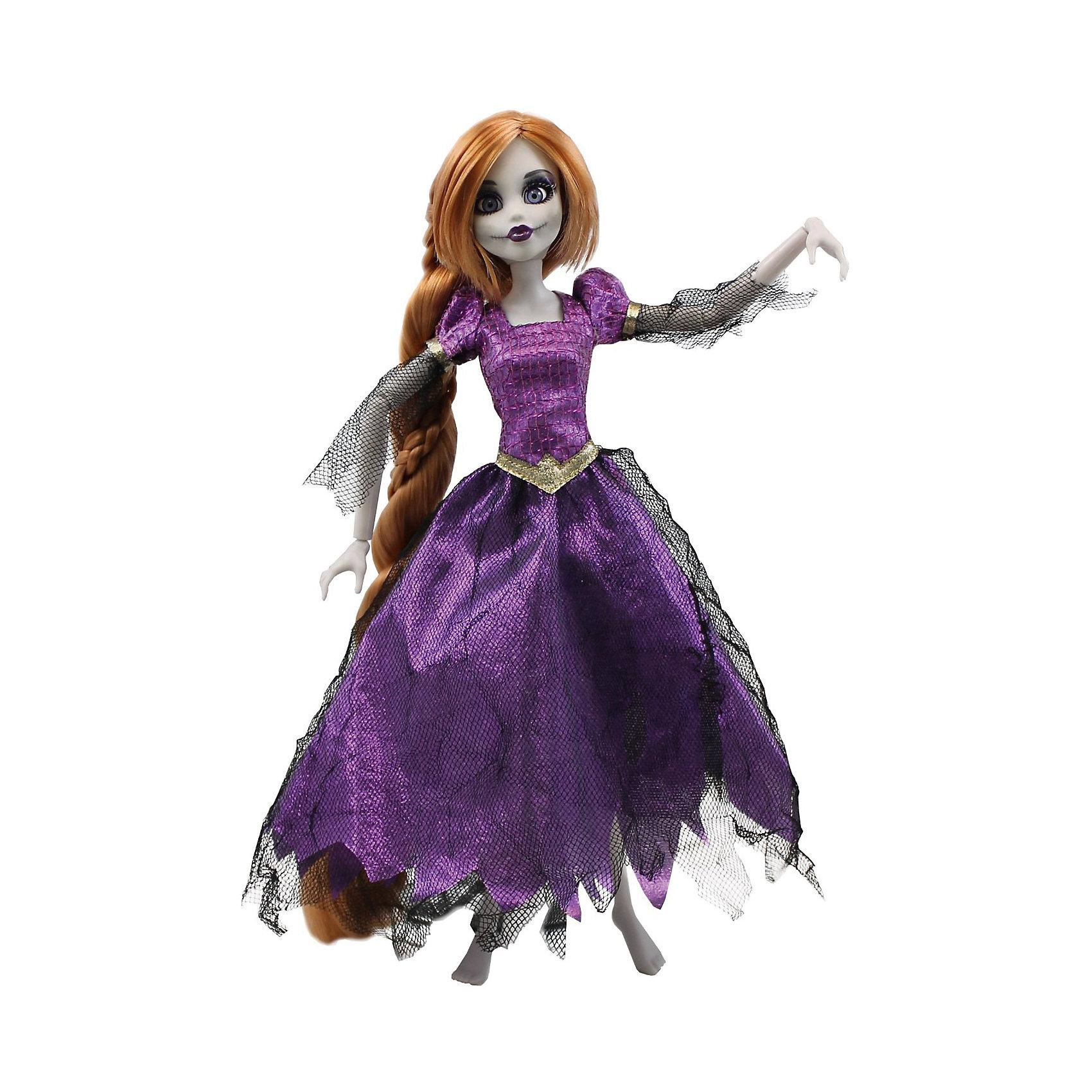 Кукла Зомби: Рапунцель, WowWeeКукла Зомби: Рапунцель от WowWee - это сказочный персонаж , превращенный в загадочную и холодную принцессу-зомби. Несмотря на превращение, принцесса не утратила своей красоты, даже наоборот, приобрела определенный потусторонний шарм и очарование. Невероятно длинные русые волосы куклы очень приятны наощупь, из них получится много оригинальных причесок. Рапунцель одета в прекрасное фиолетовое платье с приталенным лифом, пышной юбкой и подъюбником из сетки. Собери всю коллекцию принцесс-зомби и устрой незабываемый бал!<br><br>Дополнительная информация:<br><br>- Материал: пластик, текстиль.<br>- Высота куклы: 28 см.<br>- Комплектация: кукла, расческа, подставка.<br>- Руки, ноги, голова куклы подвижные.<br><br>Куклу Зомби: Рапунцель, WowWee, можно купить в нашем магазине.<br><br>Ширина мм: 150<br>Глубина мм: 70<br>Высота мм: 350<br>Вес г: 150<br>Возраст от месяцев: 72<br>Возраст до месяцев: 168<br>Пол: Женский<br>Возраст: Детский<br>SKU: 4134076
