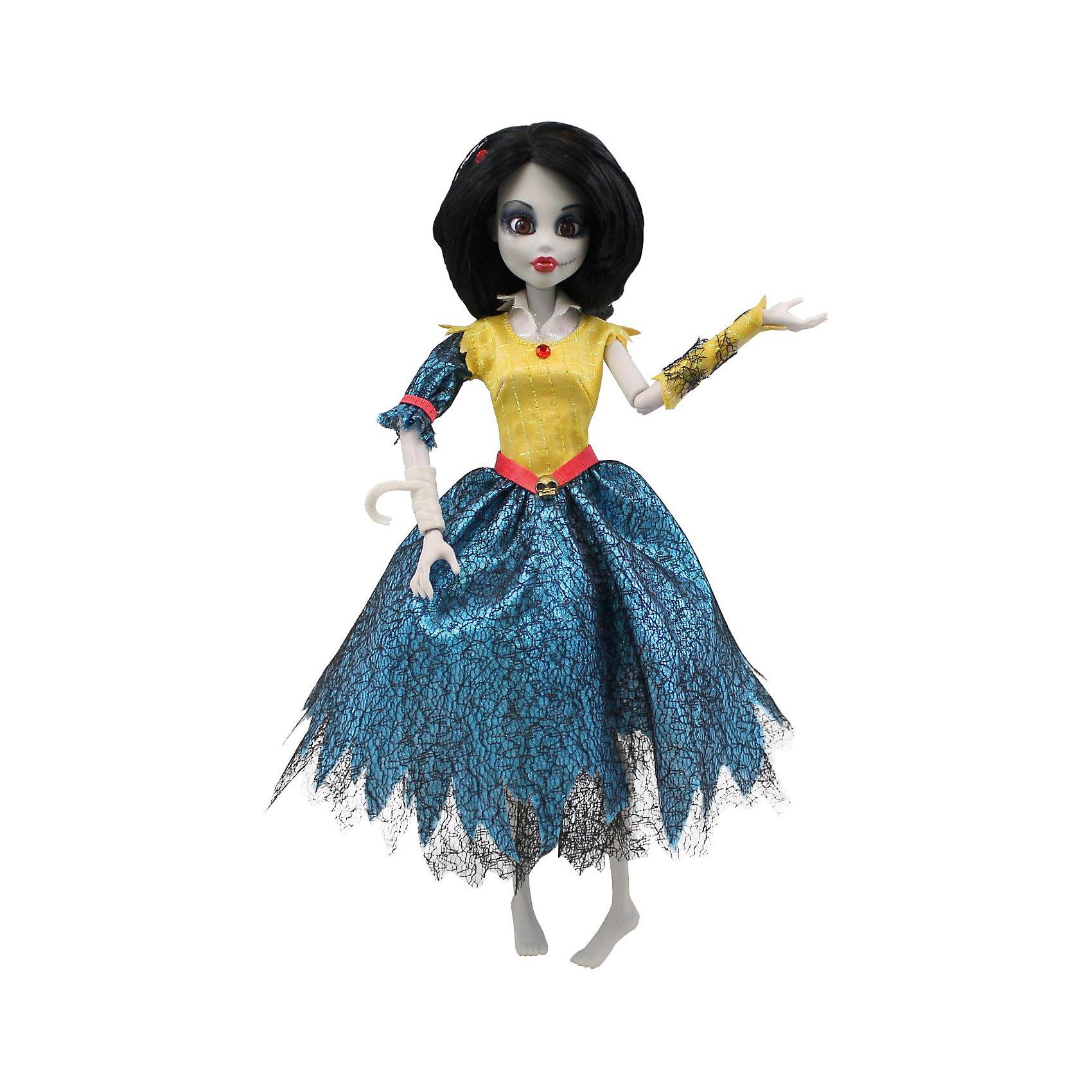Кукла Зомби Белоснежка, WowWeeБренды кукол<br>Кукла Зомби: Белоснежка от WowWee - это сказочный персонаж , превращенный в загадочную и холодную принцессу-зомби. Несмотря на превращение, принцесса не утратила своей красоты, даже наоборот, приобрела определенный потусторонний шарм и очарование. Темные волосы куклы уложены в изысканную прическу. Белоснежка одета в прекрасное  платье с приталенным желтым лифом, пышной синей юбкой и подъюбником из сетки. Собери всю коллекцию принцесс-зомби и устрой незабываемый бал!<br><br>Дополнительная информация:<br><br>- Материал: пластик, текстиль.<br>- Высота куклы: 28 см.<br>- Комплектация: кукла, расческа, подставка.<br>- Руки, ноги, голова куклы подвижные.<br><br>Куклу Зомби: Белоснежку, WowWee, можно купить в нашем магазине.<br><br>Ширина мм: 150<br>Глубина мм: 70<br>Высота мм: 350<br>Вес г: 150<br>Возраст от месяцев: 72<br>Возраст до месяцев: 168<br>Пол: Женский<br>Возраст: Детский<br>SKU: 4134077