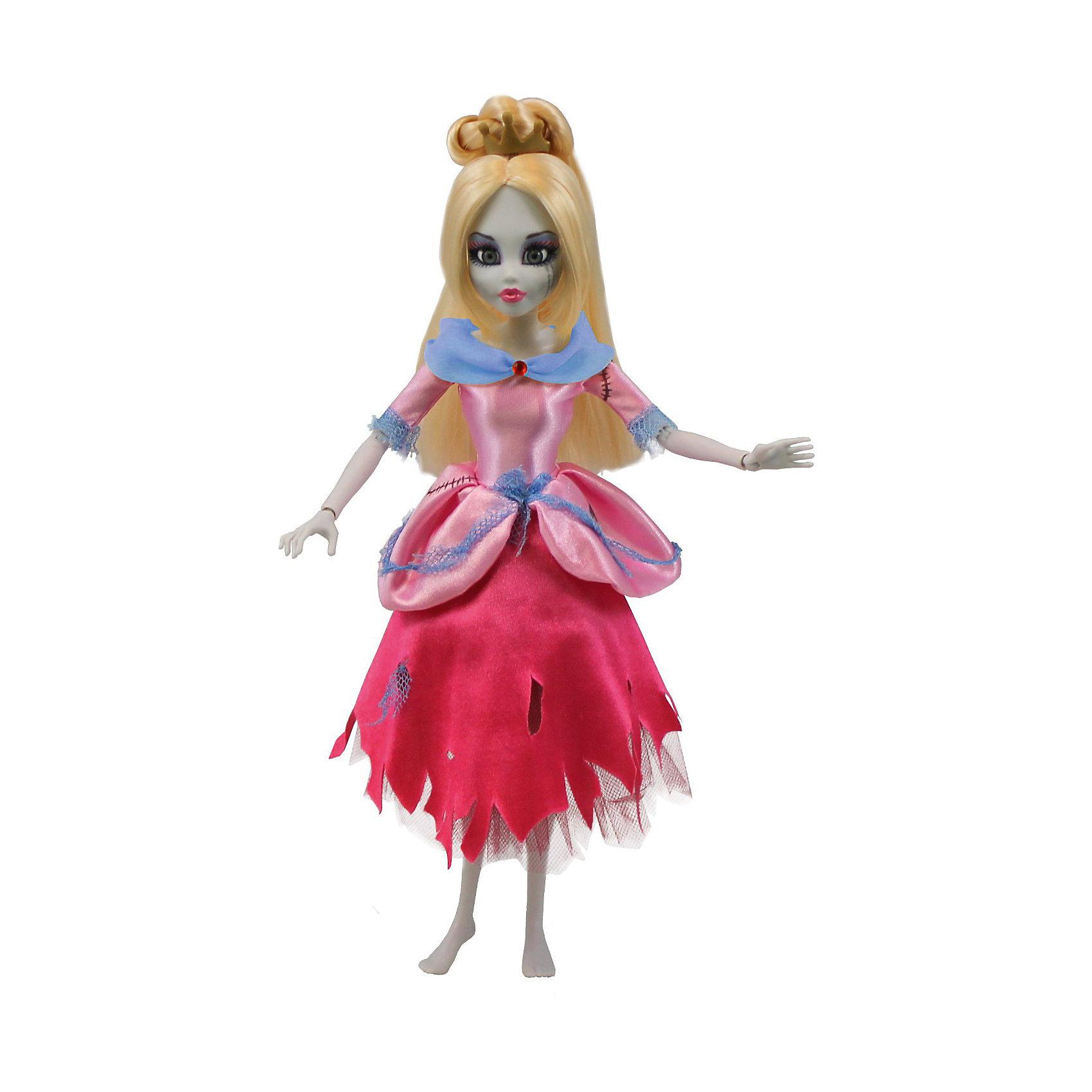 Кукла Зомби: Золушка, WowWeeБренды кукол<br>Кукла Зомби: Золушка от WowWee - это сказочный персонаж , превращенный в загадочную и холодную принцессу-зомби. Несмотря на превращение, принцесса не утратила своей красоты, даже наоборот, приобрела определенный потусторонний шарм и очарование. Длинные белокурые волосы куклы очень мягкие и послушные. Золушка одета в прекрасное  розово- голубое платье с приталенным лифом, пышной юбкой и подъюбником из сетки. Собери всю коллекцию принцесс-зомби и устрой незабываемый бал!<br><br>Дополнительная информация:<br><br>- Материал: пластик, текстиль.<br>- Высота куклы: 28 см.<br>- Комплектация: кукла, расческа, подставка.<br>- Руки, ноги, голова куклы подвижные.<br><br>Куклу Зомби: Золушку, WowWee, можно купить в нашем магазине.<br><br>Ширина мм: 150<br>Глубина мм: 70<br>Высота мм: 350<br>Вес г: 150<br>Возраст от месяцев: 72<br>Возраст до месяцев: 168<br>Пол: Женский<br>Возраст: Детский<br>SKU: 4134078