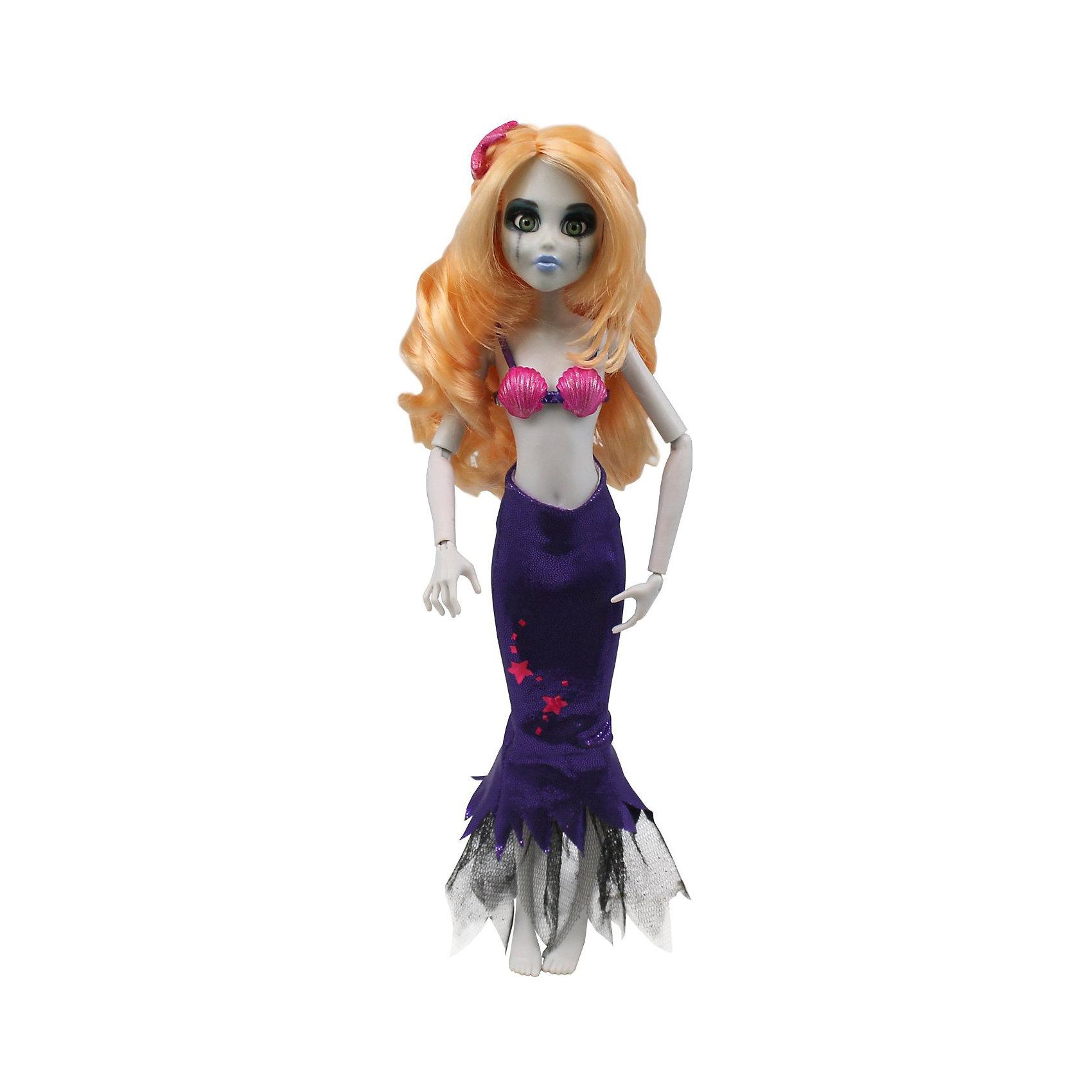 Кукла Зомби: Русалочка, WowWeeКуклы-модели<br>Кукла Зомби: Русалочка от WowWee - это сказочный персонаж , превращенный в загадочную и холодную принцессу-зомби. Несмотря на превращение, принцесса не утратила своей красоты, даже наоборот, приобрела определенный потусторонний шарм и очарование. Длинные белокурые волосы куклы очень мягкие и послушные из них получится множество великолепных причесок.  Костюм принцессы состоит из розового лифа и фиолетового съемного хвоста с роскошным плавником. Собери всю коллекцию принцесс-зомби и устрой незабываемый бал!<br><br>Дополнительная информация:<br><br>- Материал: пластик, текстиль.<br>- Высота куклы: 28 см.<br>- Комплектация: кукла, расческа, подставка.<br>- Руки, ноги, голова куклы подвижные.<br><br>Куклу Зомби: Русалочку, WowWee, можно купить в нашем магазине.<br><br>Ширина мм: 150<br>Глубина мм: 70<br>Высота мм: 350<br>Вес г: 150<br>Возраст от месяцев: 72<br>Возраст до месяцев: 168<br>Пол: Женский<br>Возраст: Детский<br>SKU: 4134079