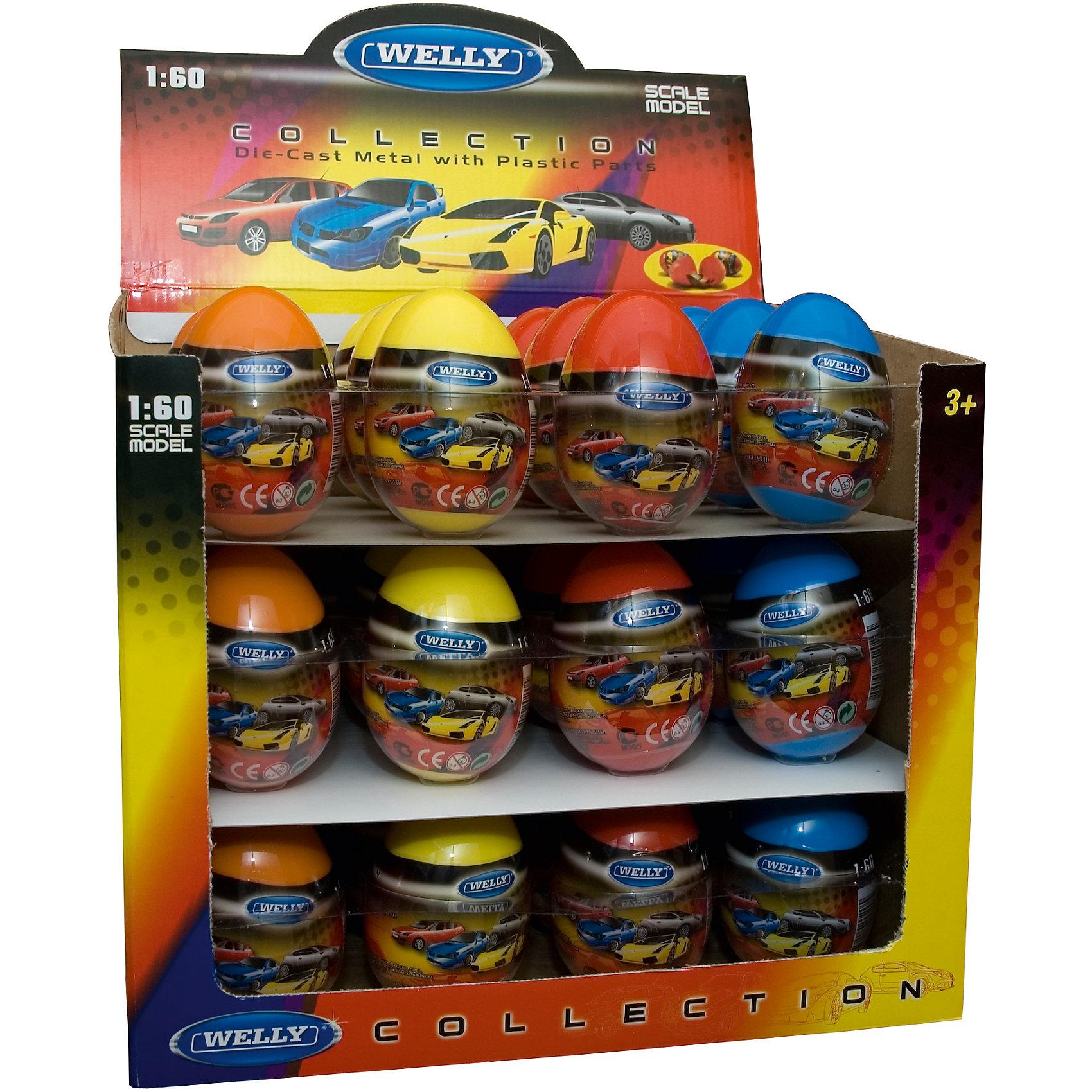 Welly Модель машины 1:60 Яйцо-сюрприз, Welly, в ассортименте welly 52020d велли модель машины 1 60 в ассортименте