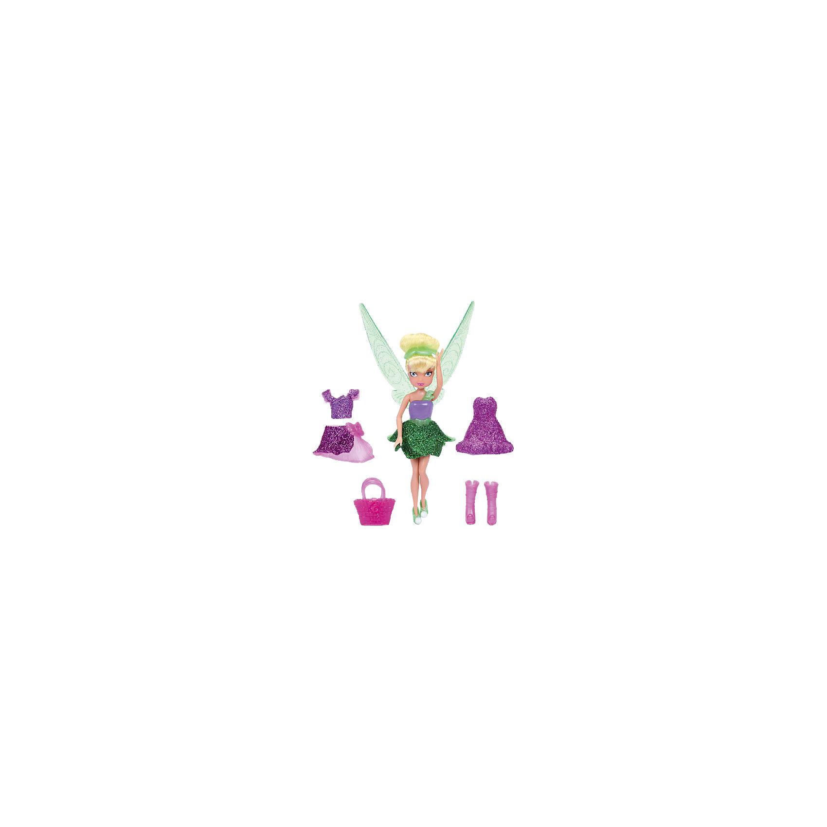 Мини-игровой набор Фея, Феи ДиснейИгрушки<br>Игровой набор Disney Fairies включает 1 куколку фею и набор одежды для нее. Платья и юбочки покрыты блестками, все цвета гармонично сочетаются друг с другом.<br><br>Дополнительная информация:<br><br>В комплект входит 2 платья<br>1 сумочка<br>1 сапожки<br>1 туфельки<br>1 топик<br>1 юбочка<br>Высота куклы - 11 см.<br><br>ВНИМАНИЕ! Данный артикул представлен в разных вариантах исполнения (В ассортименте 3 куклы на выбор: фея Динь-Динь, Розетта, Серебрянка). К сожалению, заранее выбрать определенный вариант невозможно. При заказе нескольких наборов возможно получение одинаковых.<br><br>Мини-игровой набор Фея, Disney Fairies можно купить в нашем магазине.<br><br>Ширина мм: 170<br>Глубина мм: 205<br>Высота мм: 50<br>Вес г: 168<br>Возраст от месяцев: 36<br>Возраст до месяцев: 120<br>Пол: Женский<br>Возраст: Детский<br>SKU: 4135938