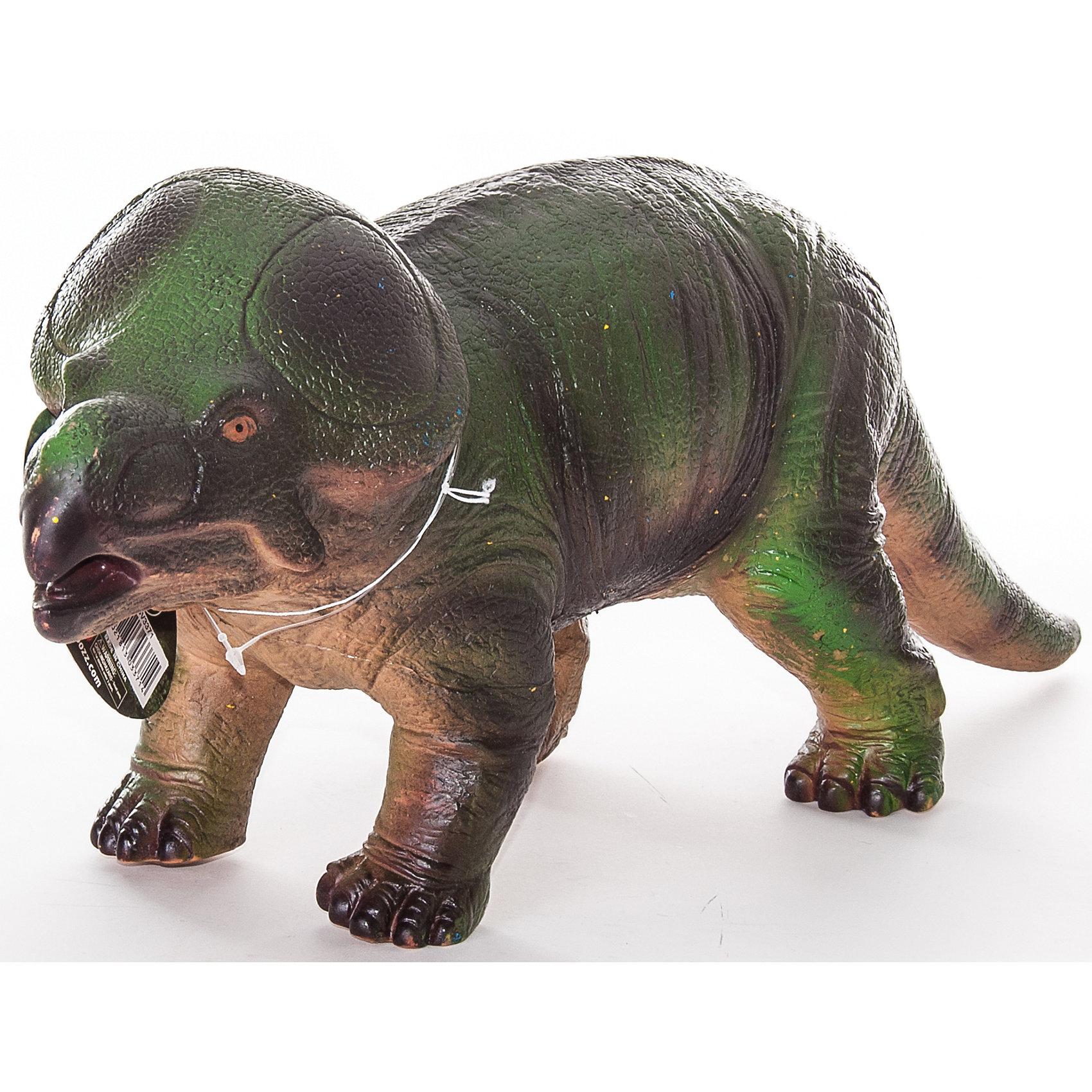 Фигурка динозавра Протоцератопс, HGLДетей всех возрастов привлекают фильмы и рассказы о доисторических временах и чудесных динозаврах, населявших Землю до возникновения человека. Подстегните фантазию юного любителя древностей - подарите ему динозавра из серии игрушек HGL. Специалисты компании создавали игрушки максимально похожими на своих прародителей, поэтому динозавры HGL такие интересные. Протоцератопс - фигурка травоядного доисторического ящера средних размеров. Он достигал в длину 2 метров, а челюсть его оканчивалась массивным клювом, благодаря которому Протоцератопс мог откусывать ветки. Протоцератопс передвигался на четырех лапах и имел костный воротник вокруг шеи, который помогал ему не стать легкой добычей для хищников. Ни одна история об эре динозавров невозможна без этого необычного динозавра. Ребенок будет в восторге от такого замечательного подарка. Массивный динозавр сделан из мягкого ПВХ безопасного для детей. Внушительные размеры и отличная детализация Протоцератопса помогут ребенку окунуться в далекий и такой манящий доисторический мир, полный приключений.<br><br>Дополнительная информация:<br><br>- Внешний вид фигурки основан на реальных данных палеонтологов;<br>- Материал: ПВХ;<br>- Размер фигурки: 40 см;<br>- Размер упаковки: 44 х 17 х 12,5 см;<br>- Вес: 750 г<br><br>Фигурку динозавра Протоцератопс, HGL можно купить в нашем интернет-магазине.<br><br>Ширина мм: 440<br>Глубина мм: 170<br>Высота мм: 125<br>Вес г: 750<br>Возраст от месяцев: 36<br>Возраст до месяцев: 192<br>Пол: Унисекс<br>Возраст: Детский<br>SKU: 4135942