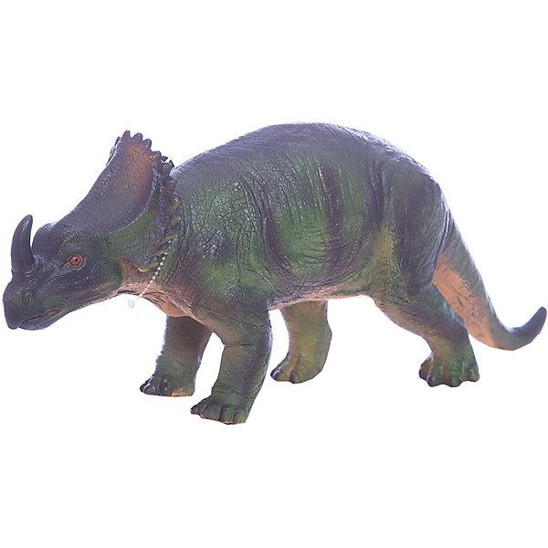 Фигурка динозавра Центрозавр, HGLМир животных<br>Детей всех возрастов привлекают фильмы и рассказы о доисторических временах и чудесных динозаврах, населявших Землю до возникновения человека. Подстегните фантазию юного любителя древностей - подарите ему динозавра из серии игрушек HGL. Специалисты компании создавали игрушки максимально похожими на своих прародителей, поэтому динозавры HGL такие интересные. Центрозавр - фигурка травоядного доисторического ящера средних размеров, существовавшего на Земле около 80 миллионов лет назад. Он достигал в длину 6 метров, а челюсть его оканчивалась массивным клювом, благодаря которому Центрозавр мог откусывать ветки. Центрозавр передвигался на четырех лапах и имел костный воротник вокруг шеи, который помогал ему не стать легкой добычей для хищников. Центрозавр знаменит большим рогом над челюстью, придающим ему особое сходство с современным носорогом. При помощи рогов небольшие травоядные динозавры, сбивавшиеся в стада, отлично защищались от набегов гигантских хищников. Ребенок будет в восторге от такой замечательной фигурки. Массивный динозавр сделан из мягкого ПВХ безопасного для детей. Внушительные размеры и отличная детализация Центрозавра помогут ребенку окунуться в далекий и такой манящий доисторический мир, полный приключений.<br><br>Дополнительная информация:<br><br>- Внешний вид фигурки основан на реальных данных палеонтологов;<br>- Материал: ПВХ;<br>- Размер фигурки: 40 см;<br>- Размер упаковки: 43 х 17,5 х 15 см;<br>- Вес: 750 г<br><br>Фигурку динозавра Центрозавр, HGL можно купить в нашем интернет-магазине.<br><br>Ширина мм: 430<br>Глубина мм: 175<br>Высота мм: 150<br>Вес г: 750<br>Возраст от месяцев: 36<br>Возраст до месяцев: 192<br>Пол: Унисекс<br>Возраст: Детский<br>SKU: 4135943